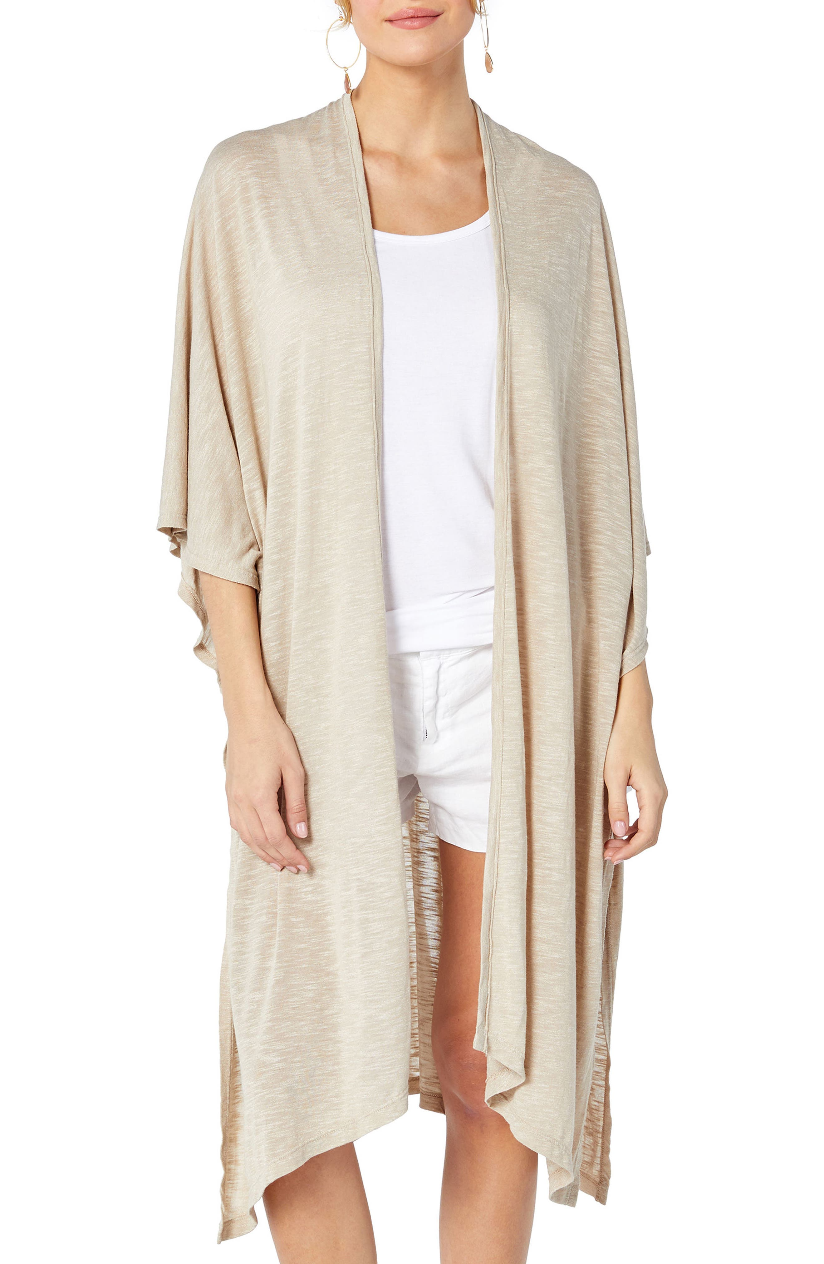 Brooklyn Long Cardigan,                         Main,                         color, Fawn