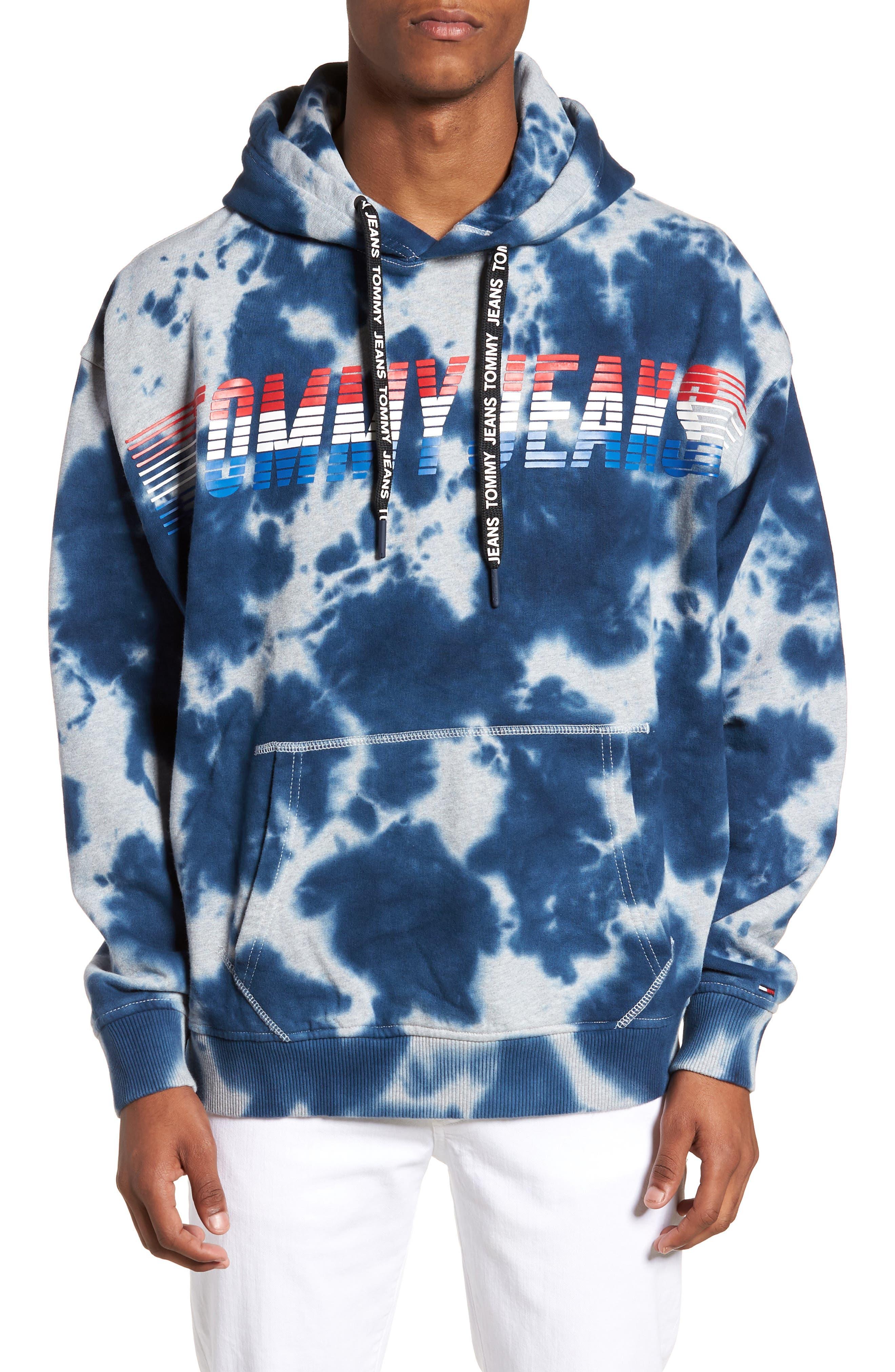 Vintage Dye Hoodie Sweatshirt,                         Main,                         color, Light Grey Heather Tie Dye