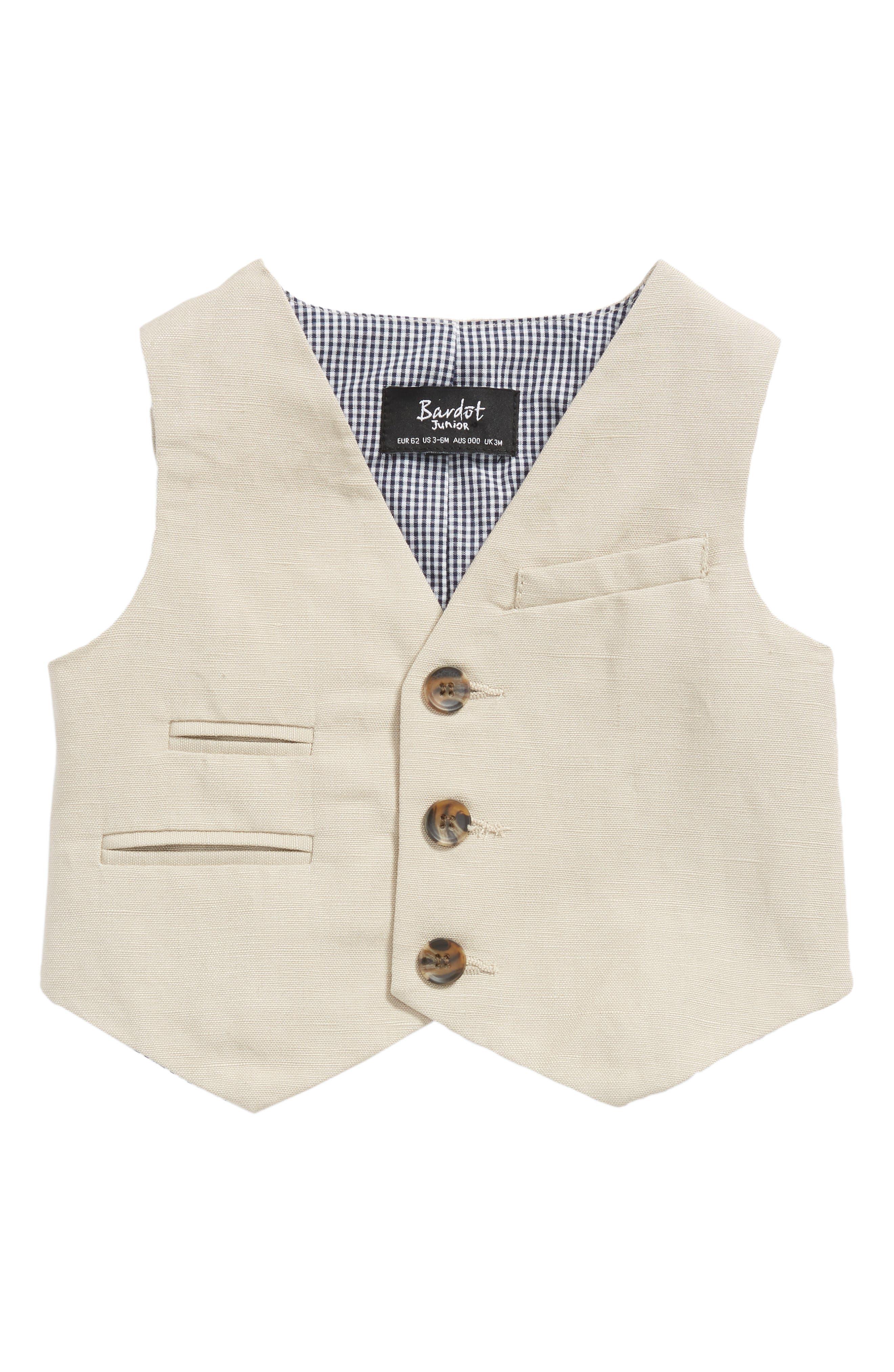 Bardot Junior Miles Linen Vest (Baby Boys)