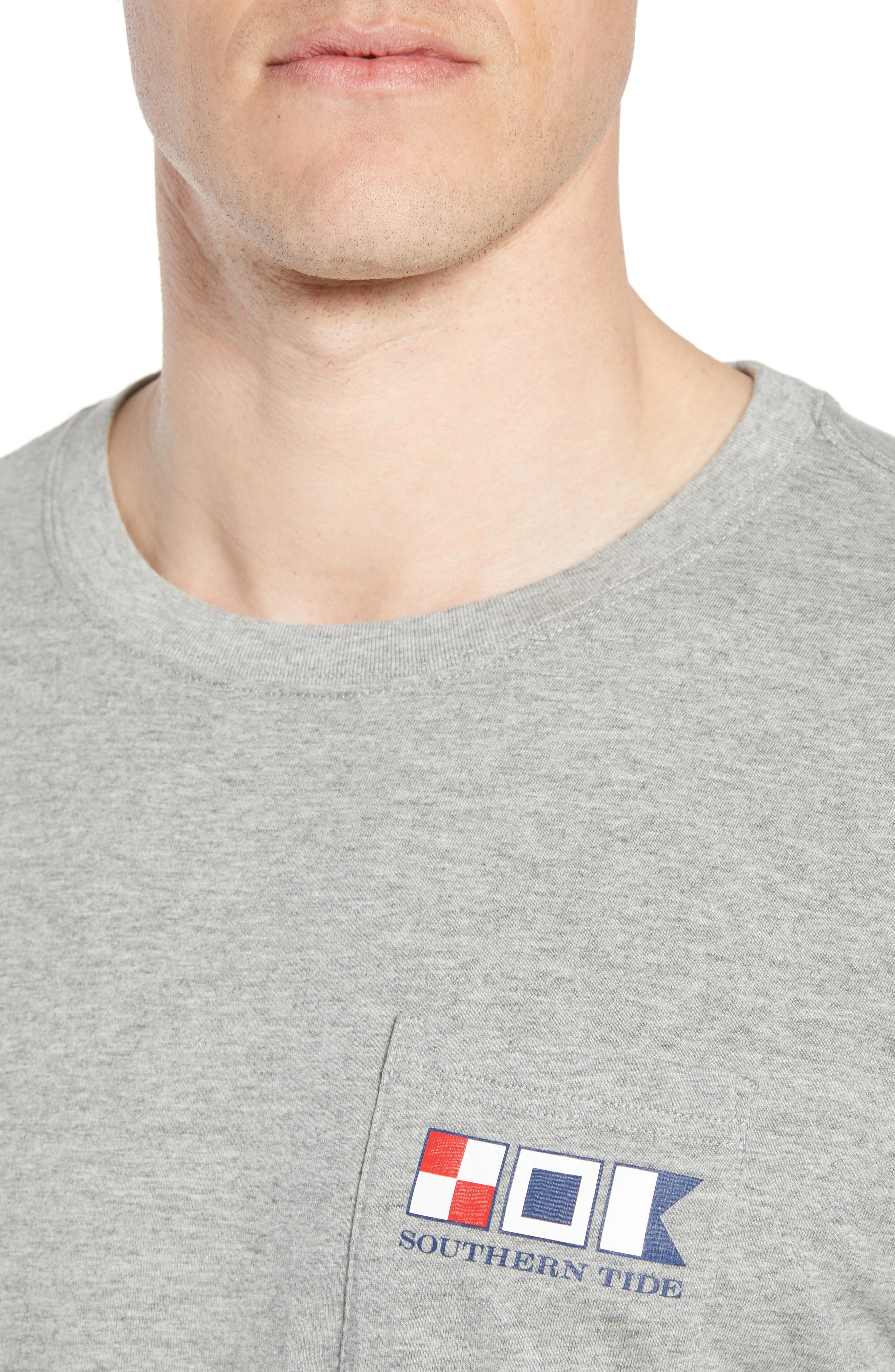 We the People Regular Fit T-Shirt,                             Alternate thumbnail 4, color,                             Grey