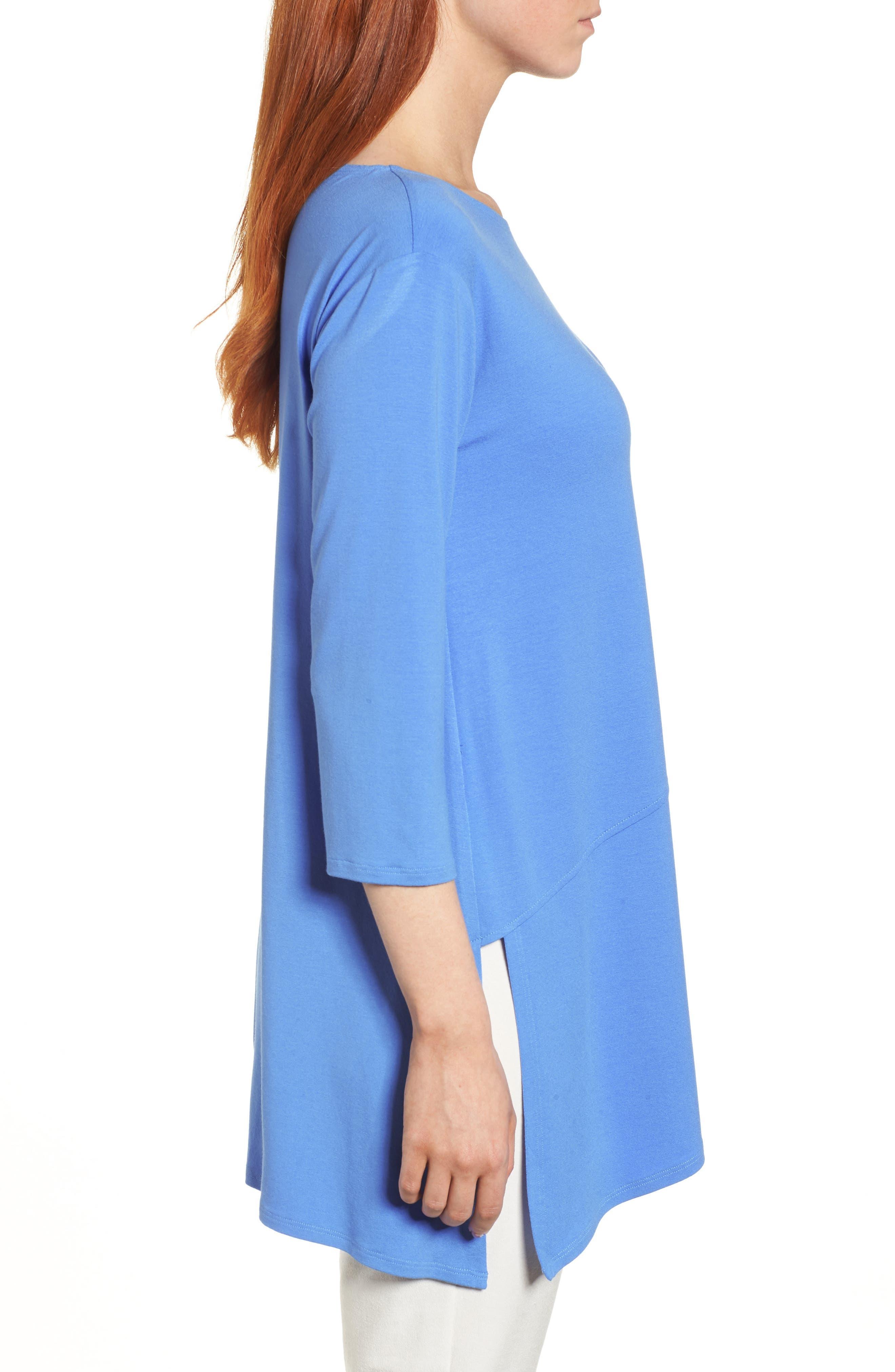 Asymmetrical Jersey Top,                             Alternate thumbnail 5, color,                             Blue Bell