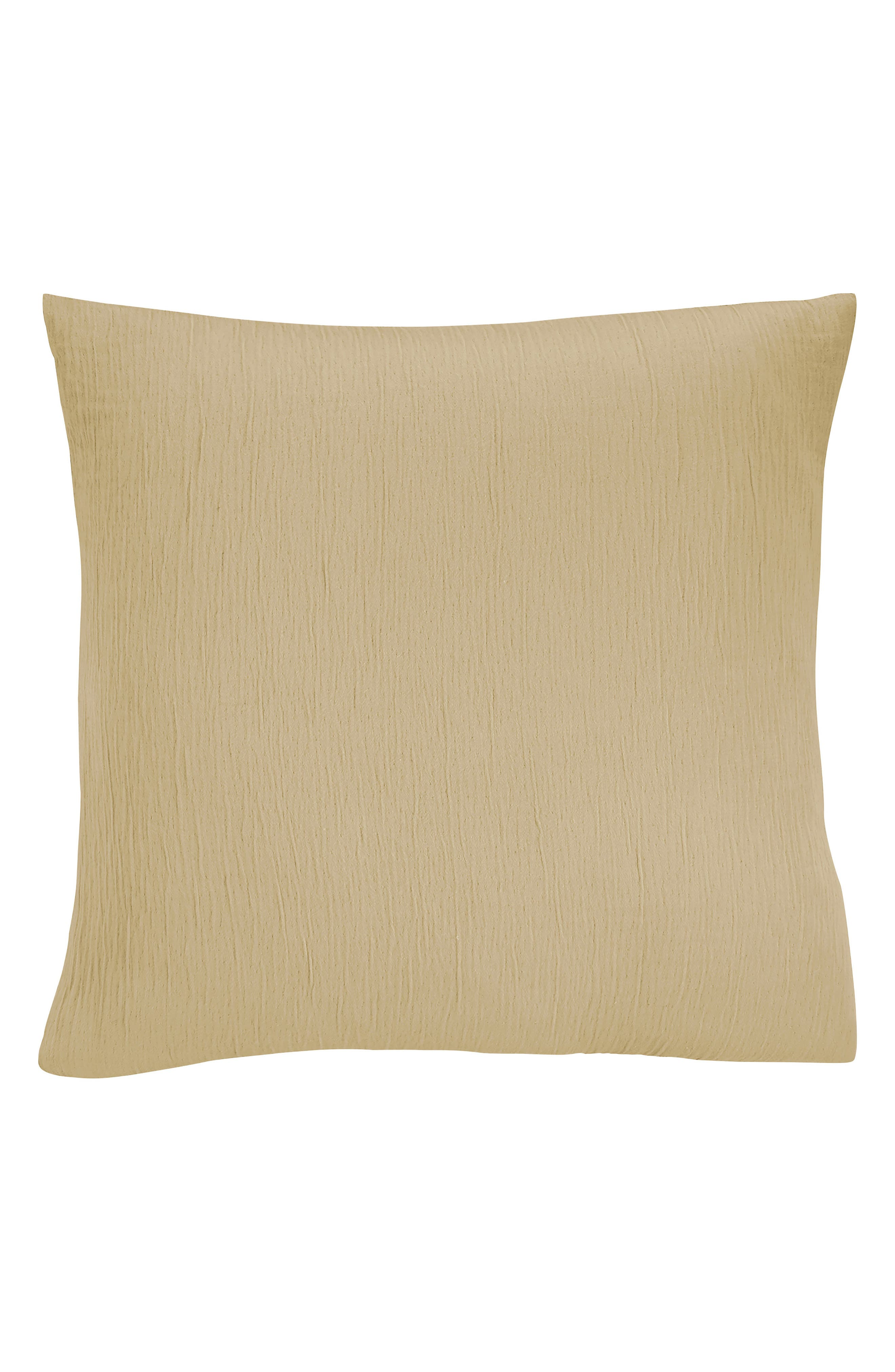 Donna Karan Casual Luxe Euro Sham,                             Main thumbnail 1, color,                             Gold