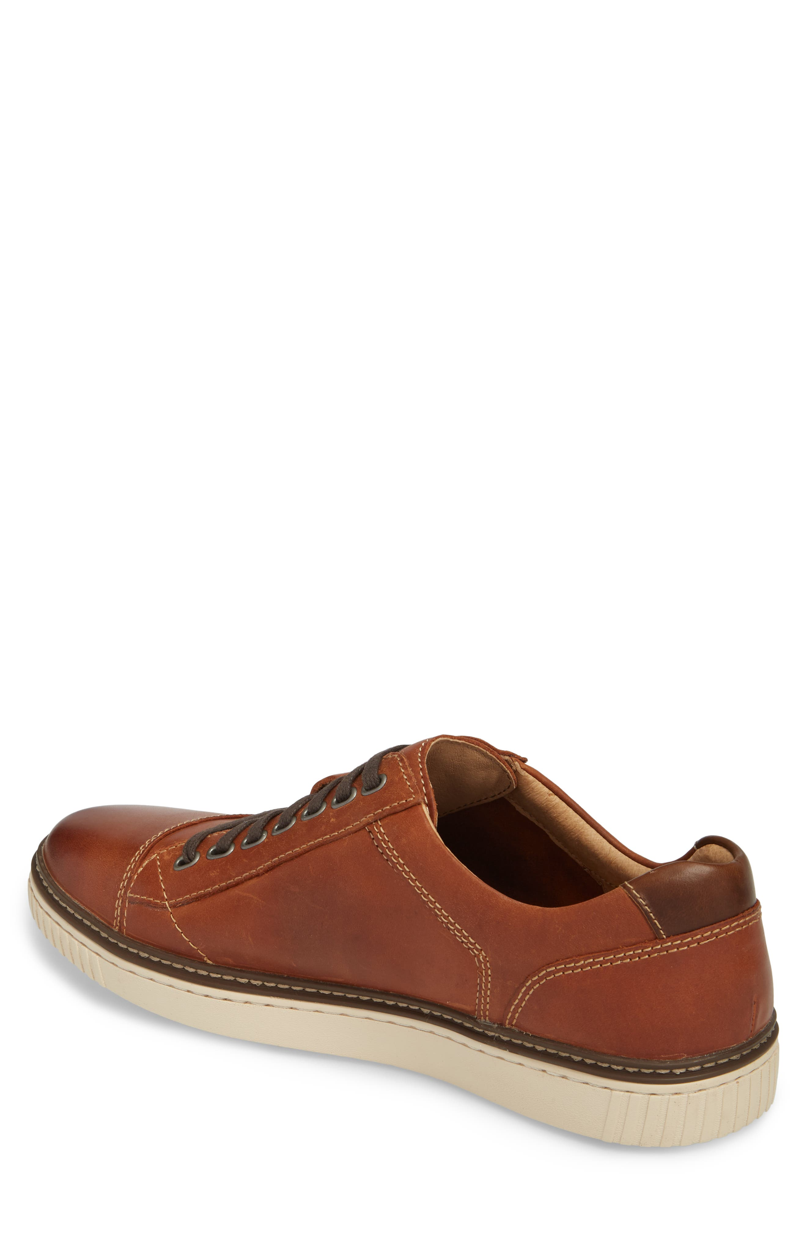 Wallace Low Top Sneaker,                             Alternate thumbnail 2, color,                             Tan Nubuck
