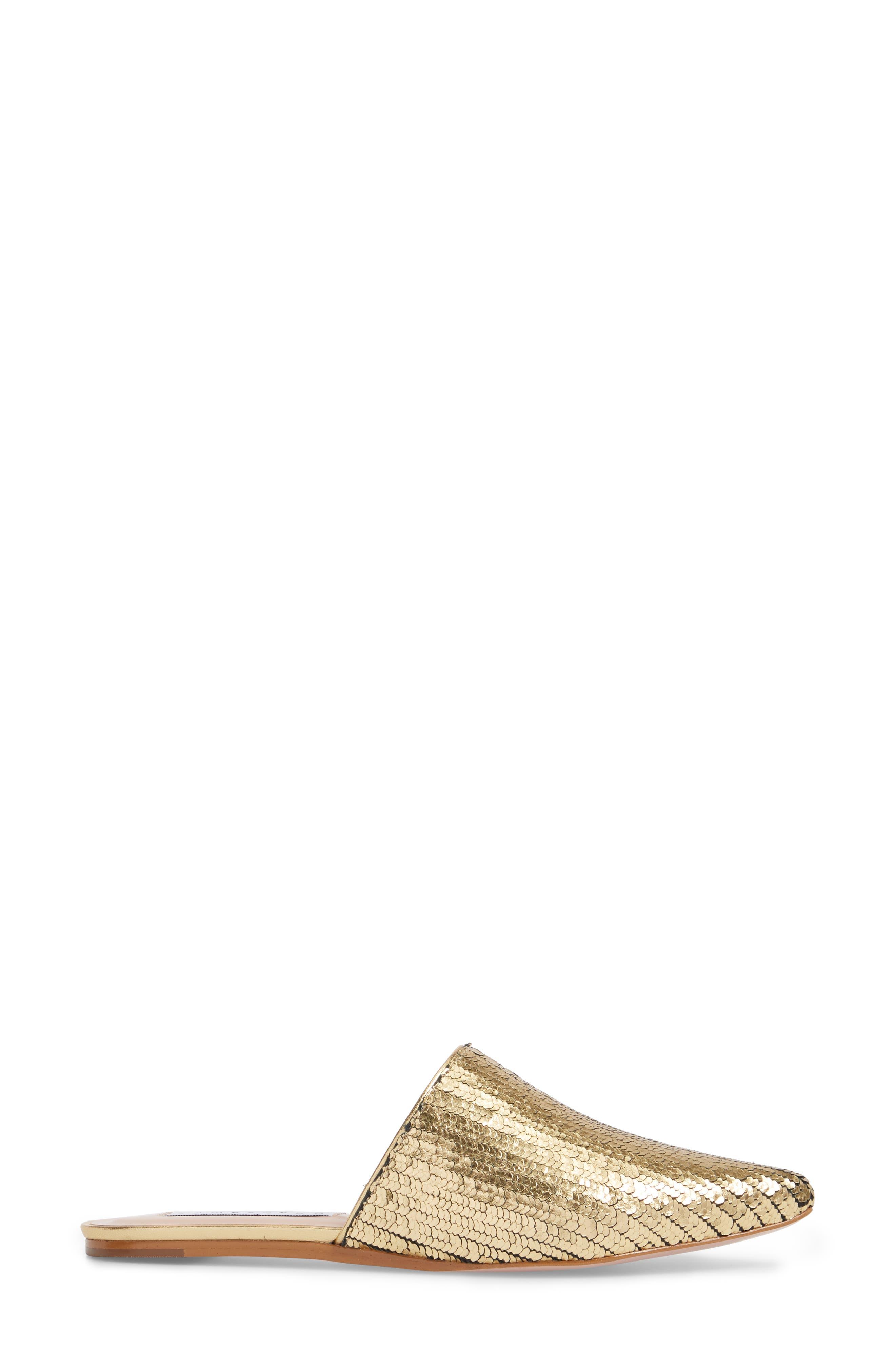 Tessa Mule,                             Alternate thumbnail 3, color,                             Gold Leather