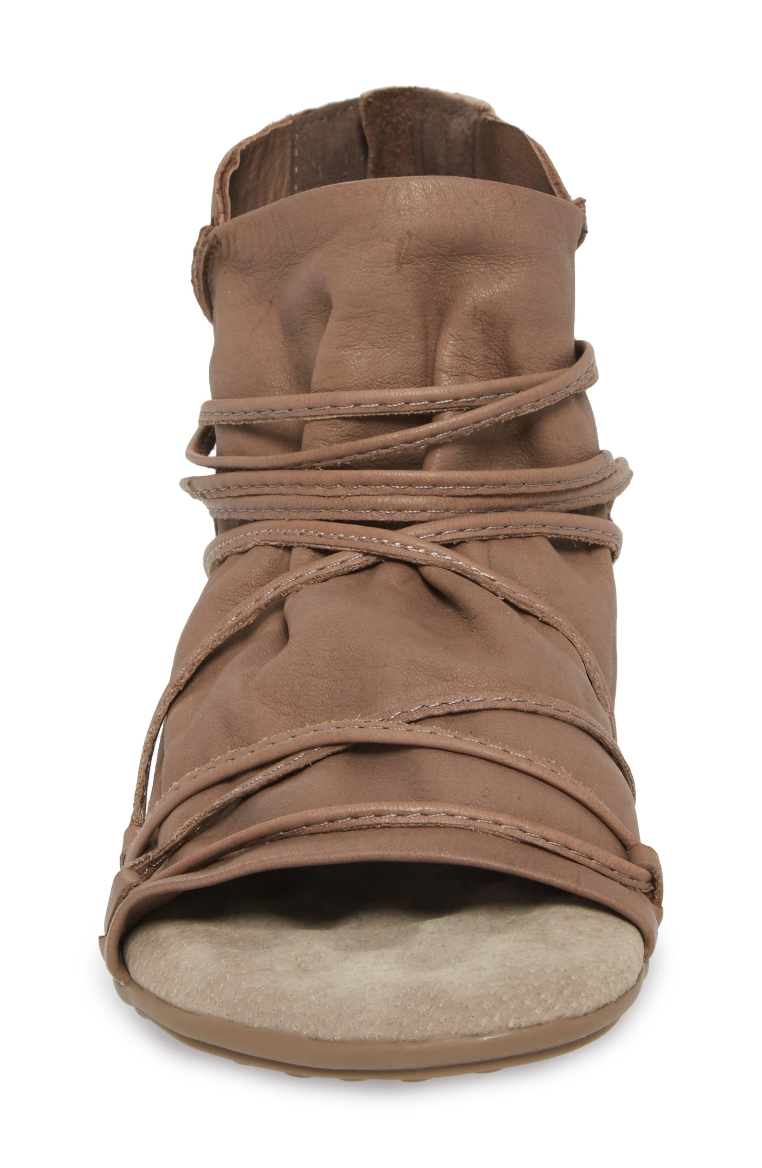 Byron Flat,                             Alternate thumbnail 4, color,                             Khaki Leather