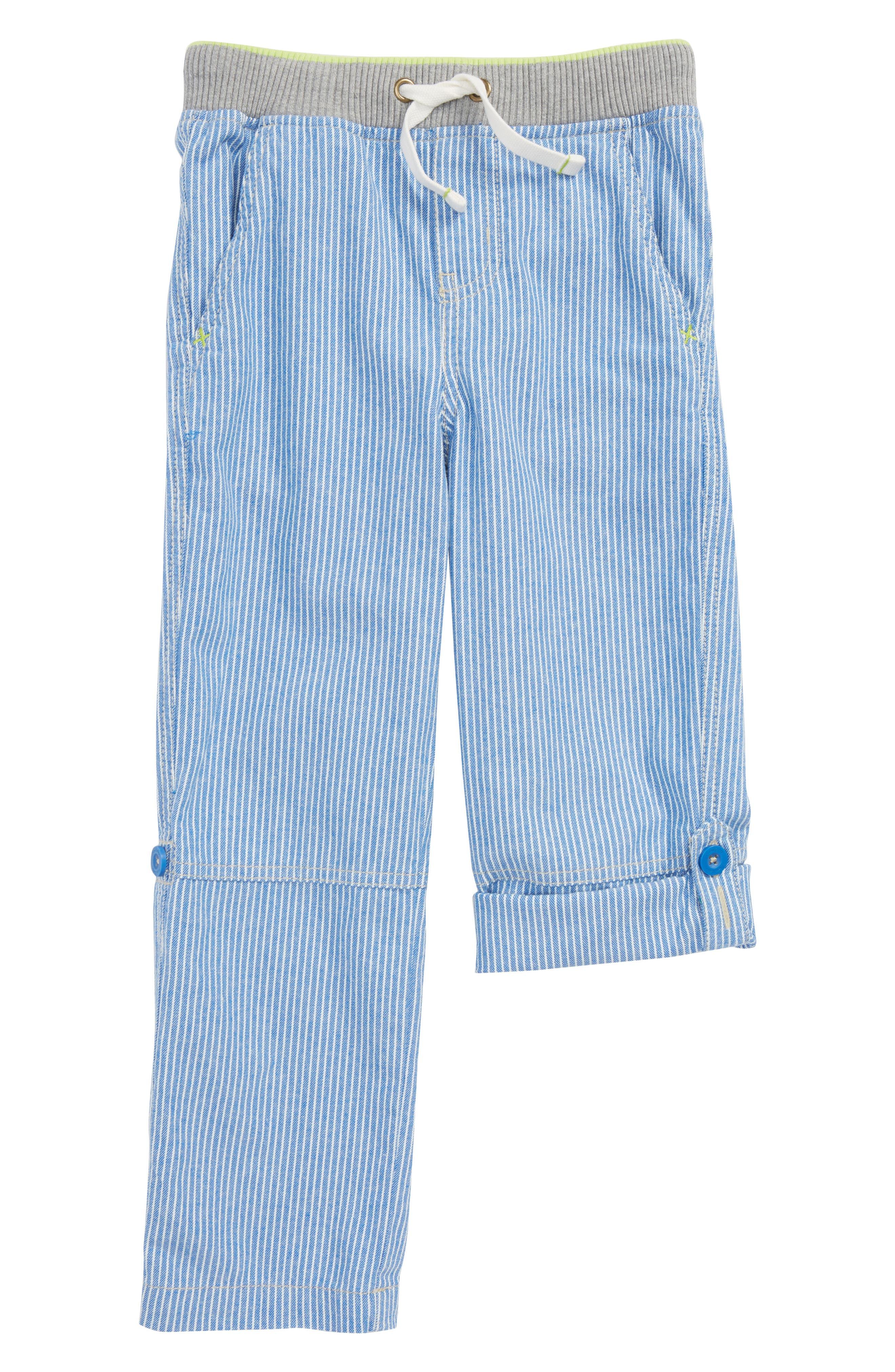 Surf Roll-Up Pants,                         Main,                         color, Skipper Blue/ Ecru