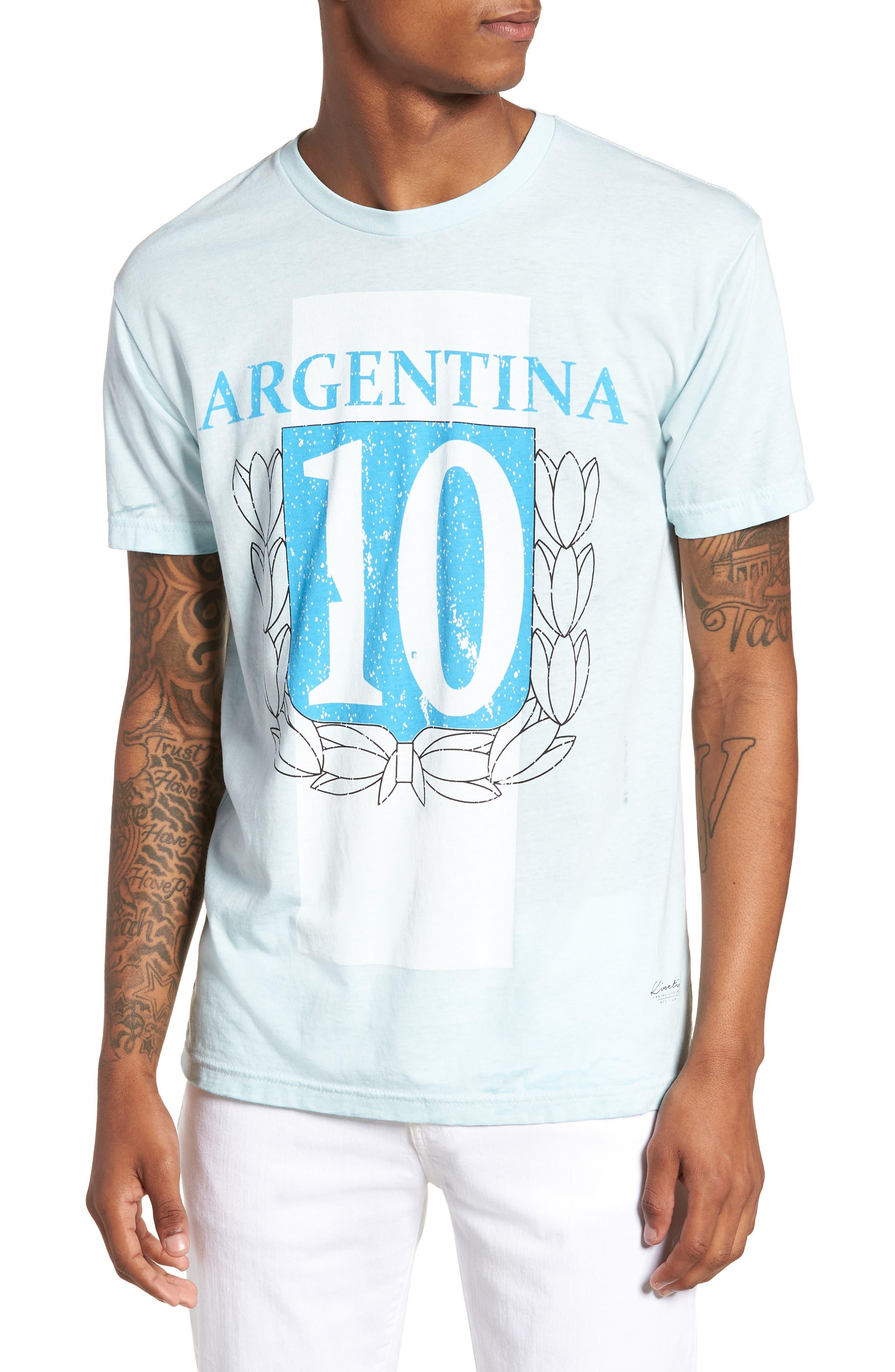 Kintetix Argentina T-Shirt,                         Main,                         color, Sky Blue