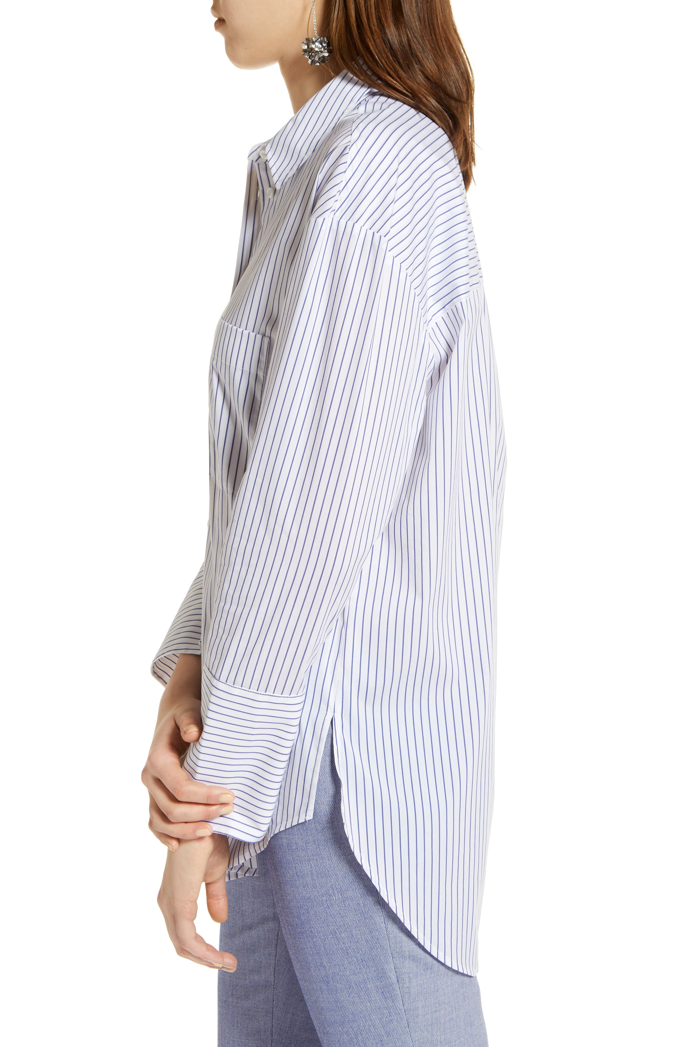 Alternate Image 3  - Halogen® Tie Front Poplin Shirt (Regular & Petite)