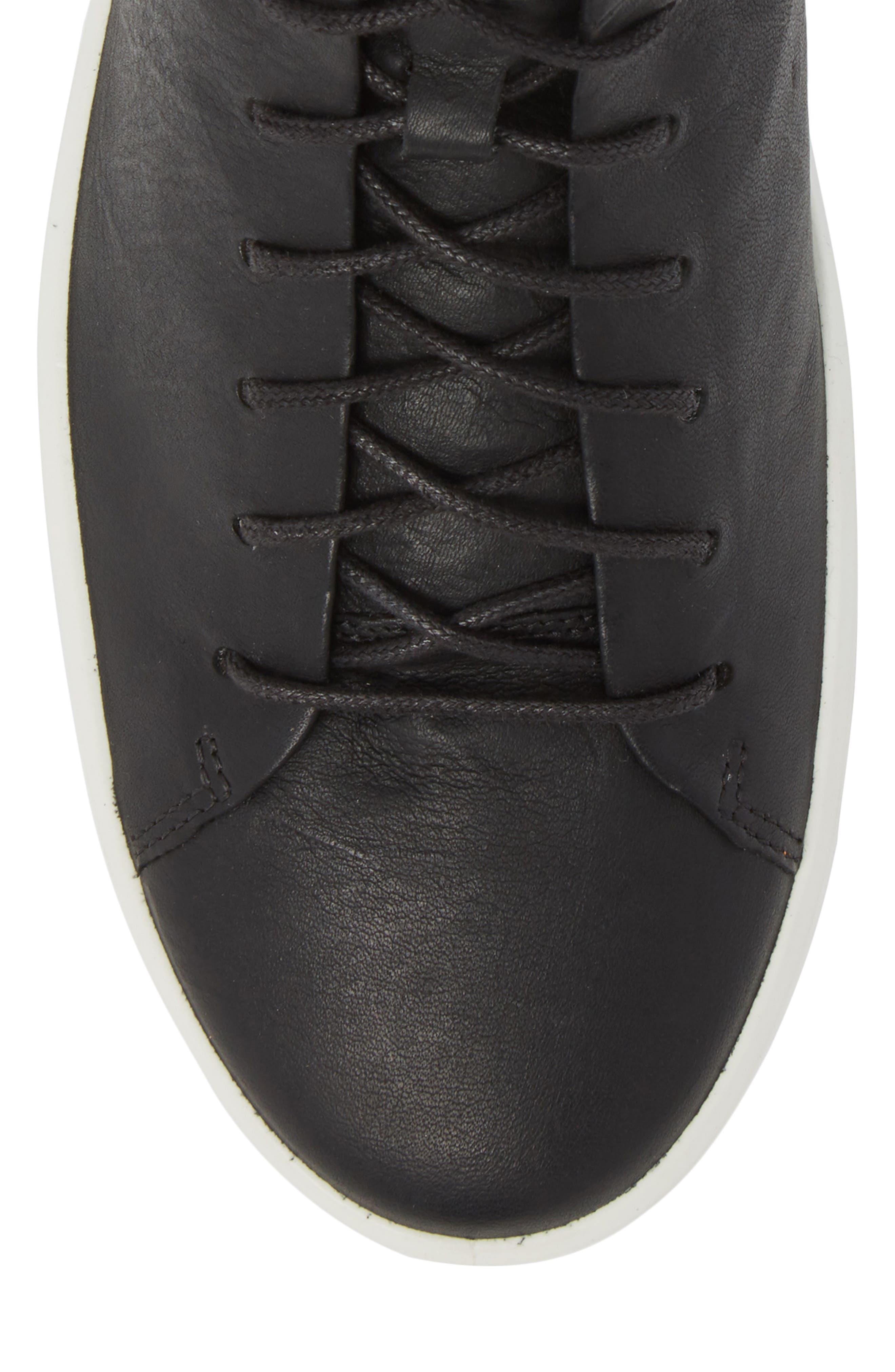 Soft 8 Sneaker,                             Alternate thumbnail 5, color,                             Black/Black Leather