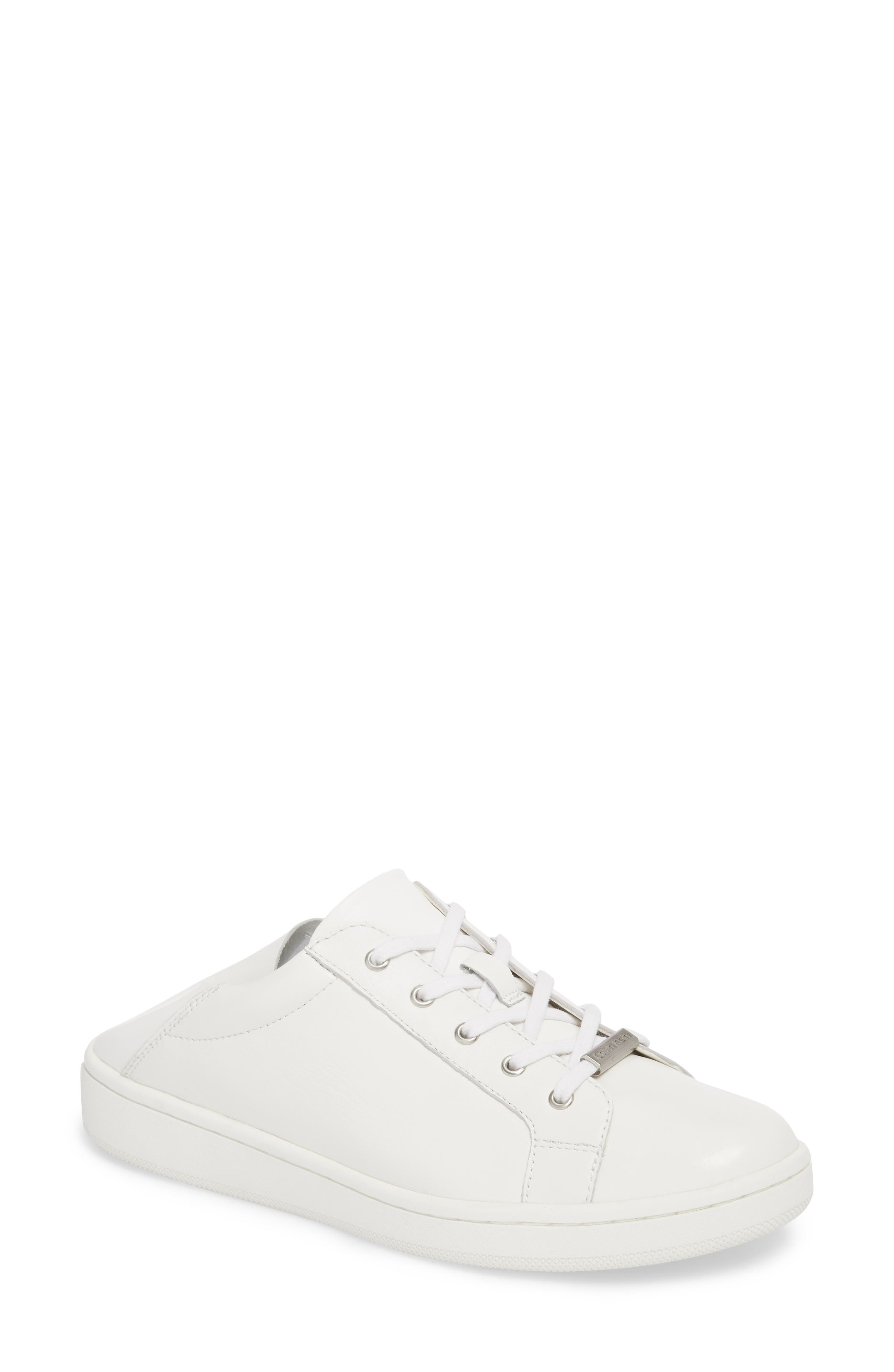 Danica Convertible Sneaker,                             Main thumbnail 1, color,                             White/ White Leather