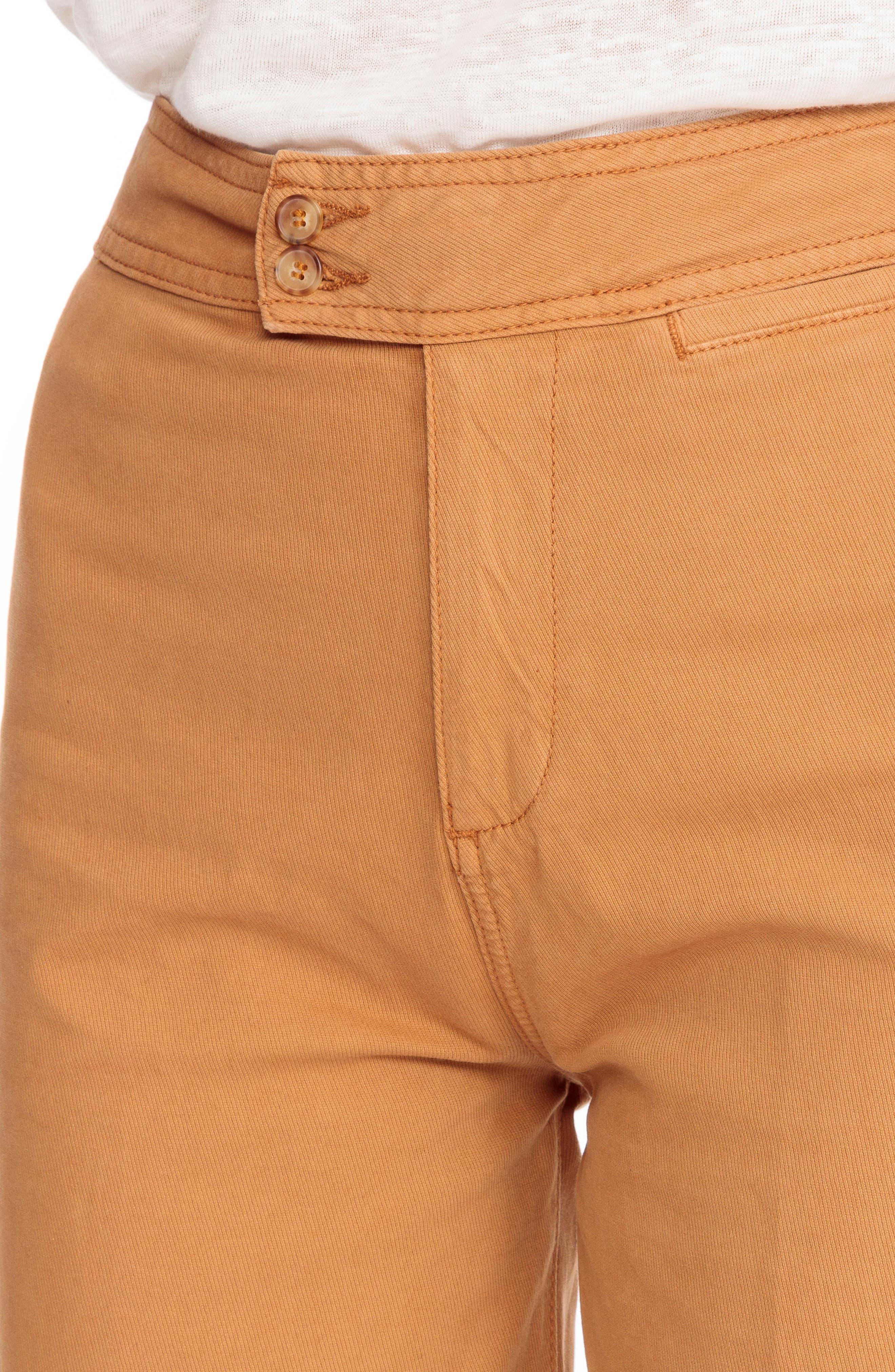 June Crop Pants,                             Alternate thumbnail 5, color,                             Ocre