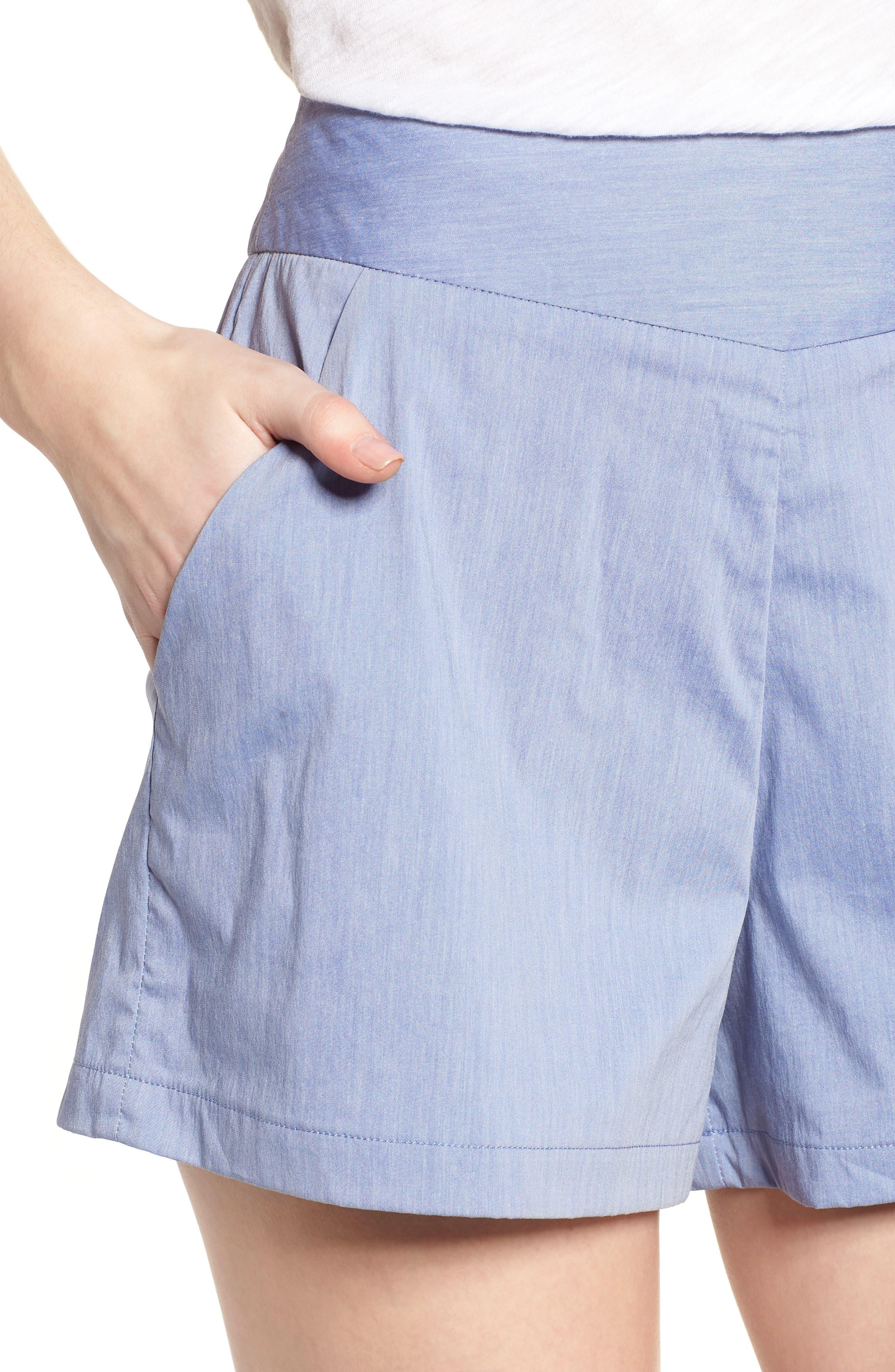 Bishop + Young Ana Pocket Shorts,                             Alternate thumbnail 4, color,                             Blue