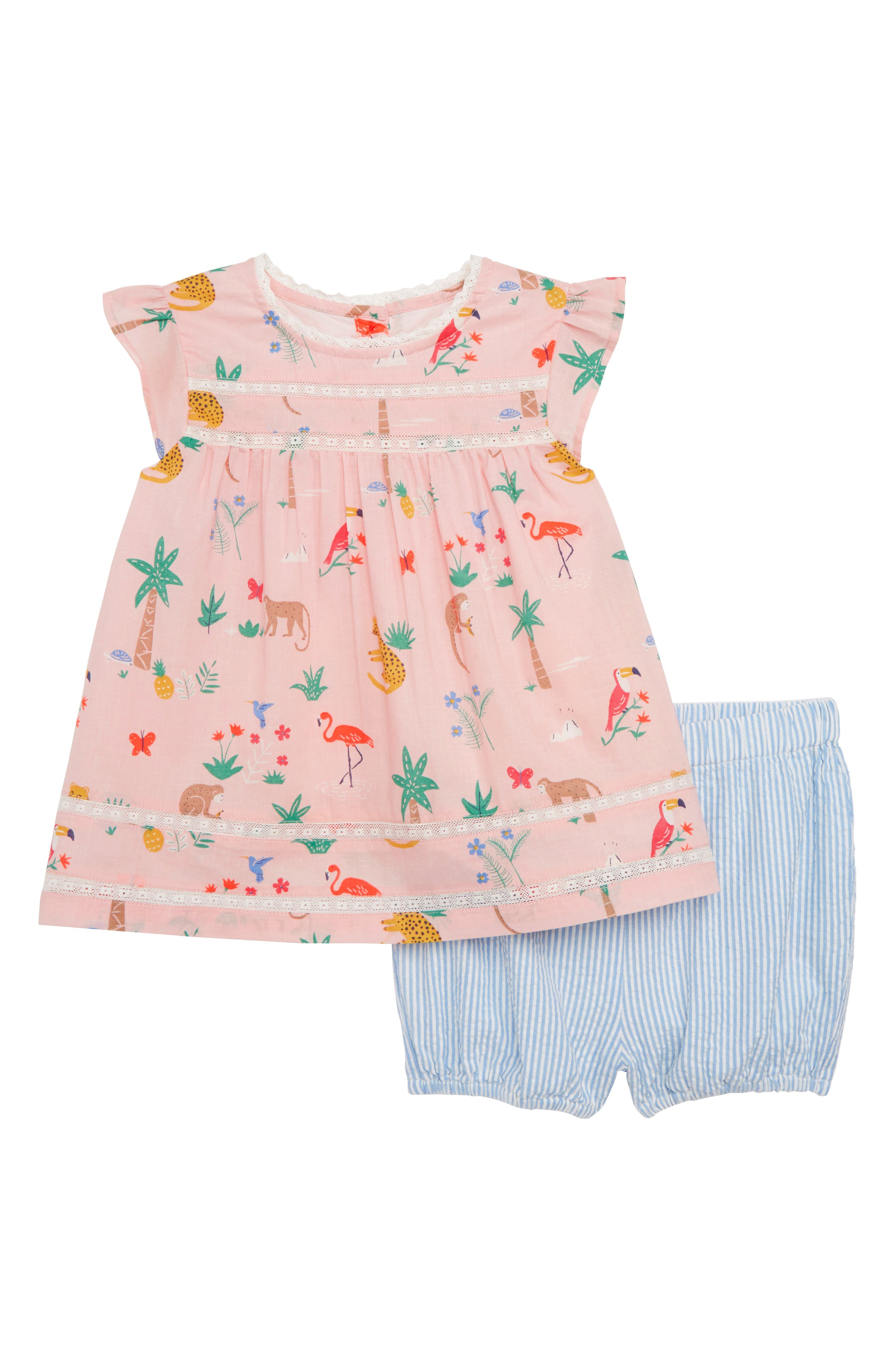 Mini Boden Sunny Days Top & Shorts Set (Baby Girls)