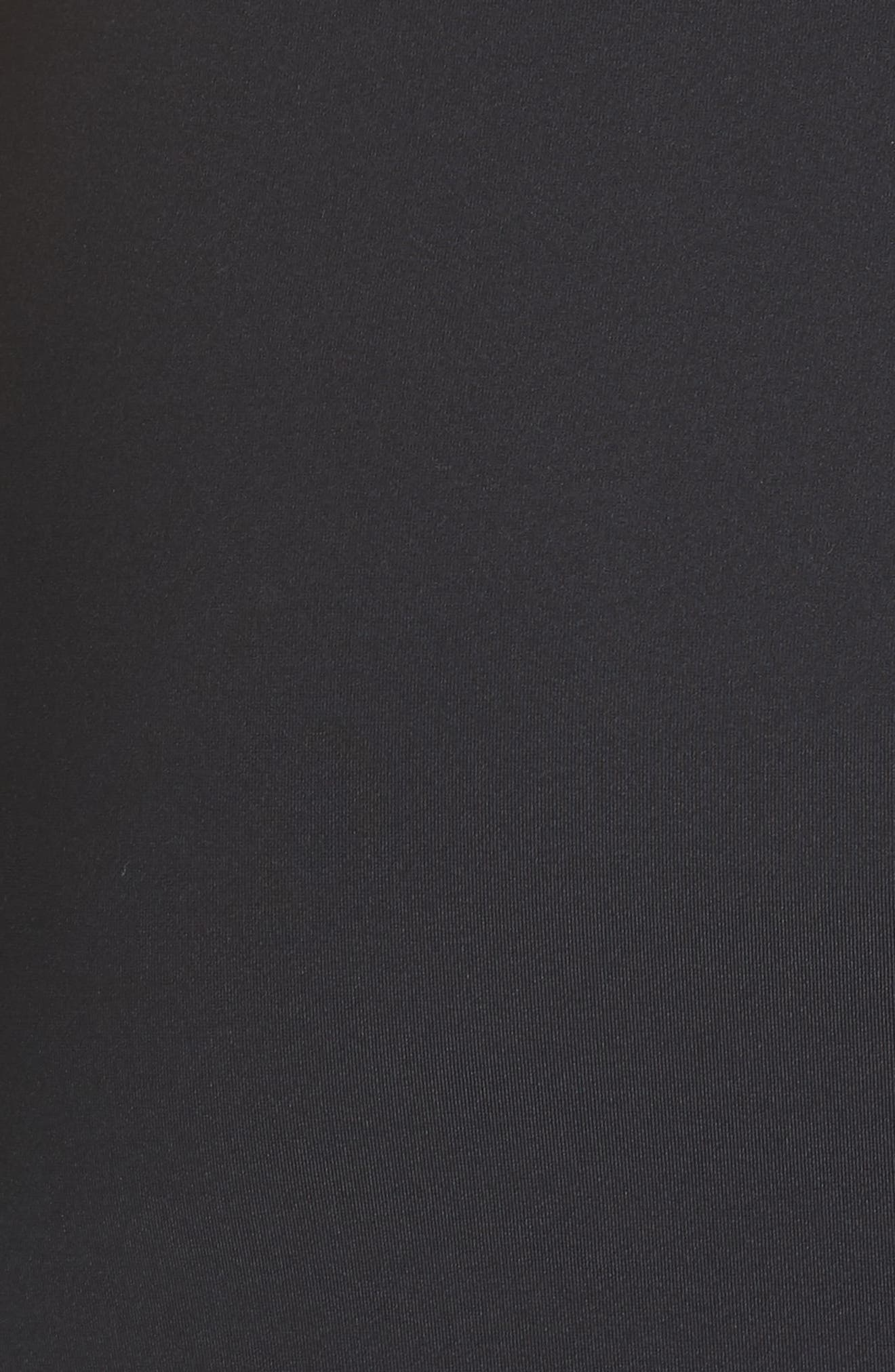 Ruched Tie Travel Midi Dress,                             Alternate thumbnail 5, color,                             Black