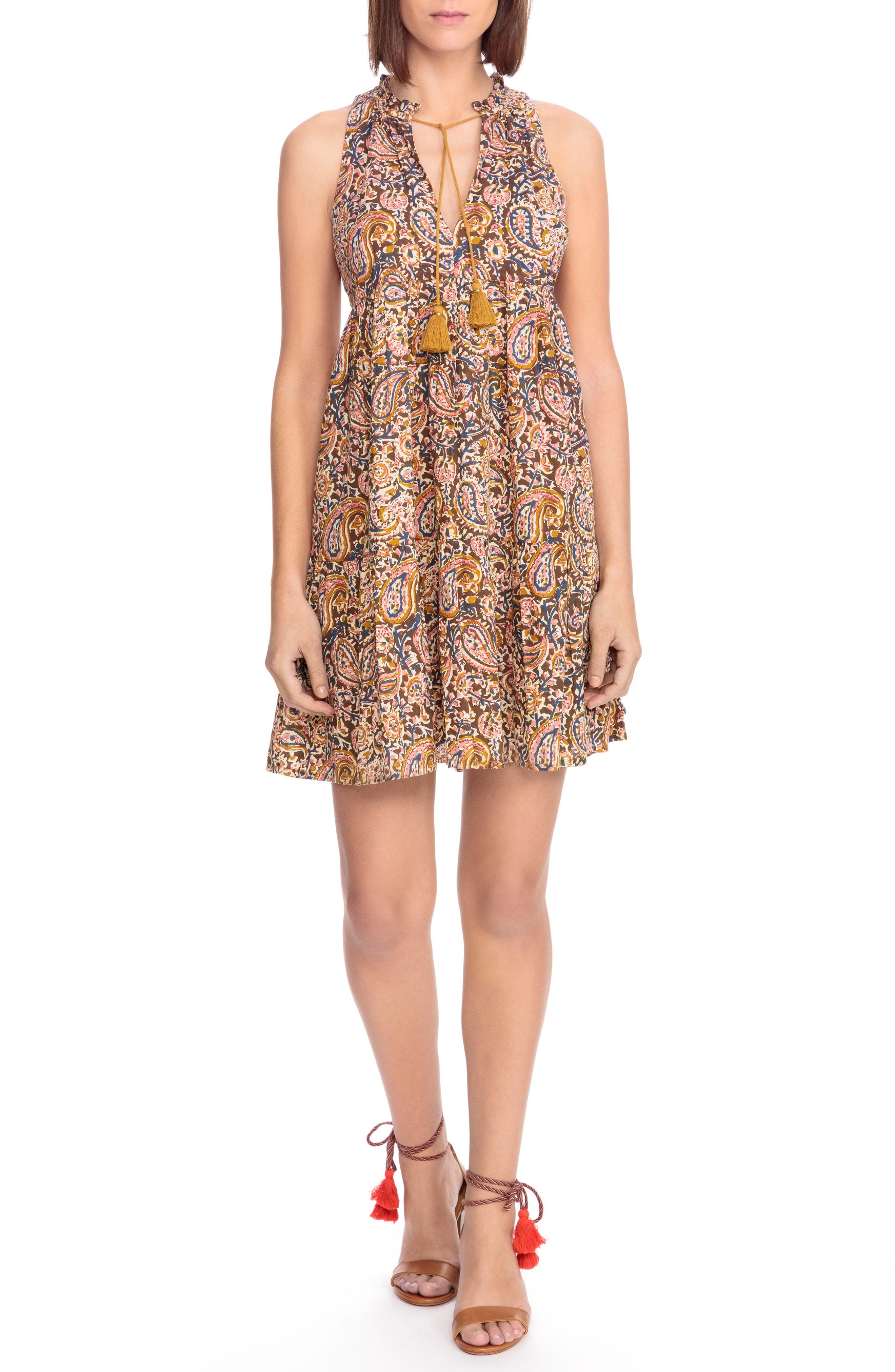 Sézane Arielle Paisley A-Line Dress