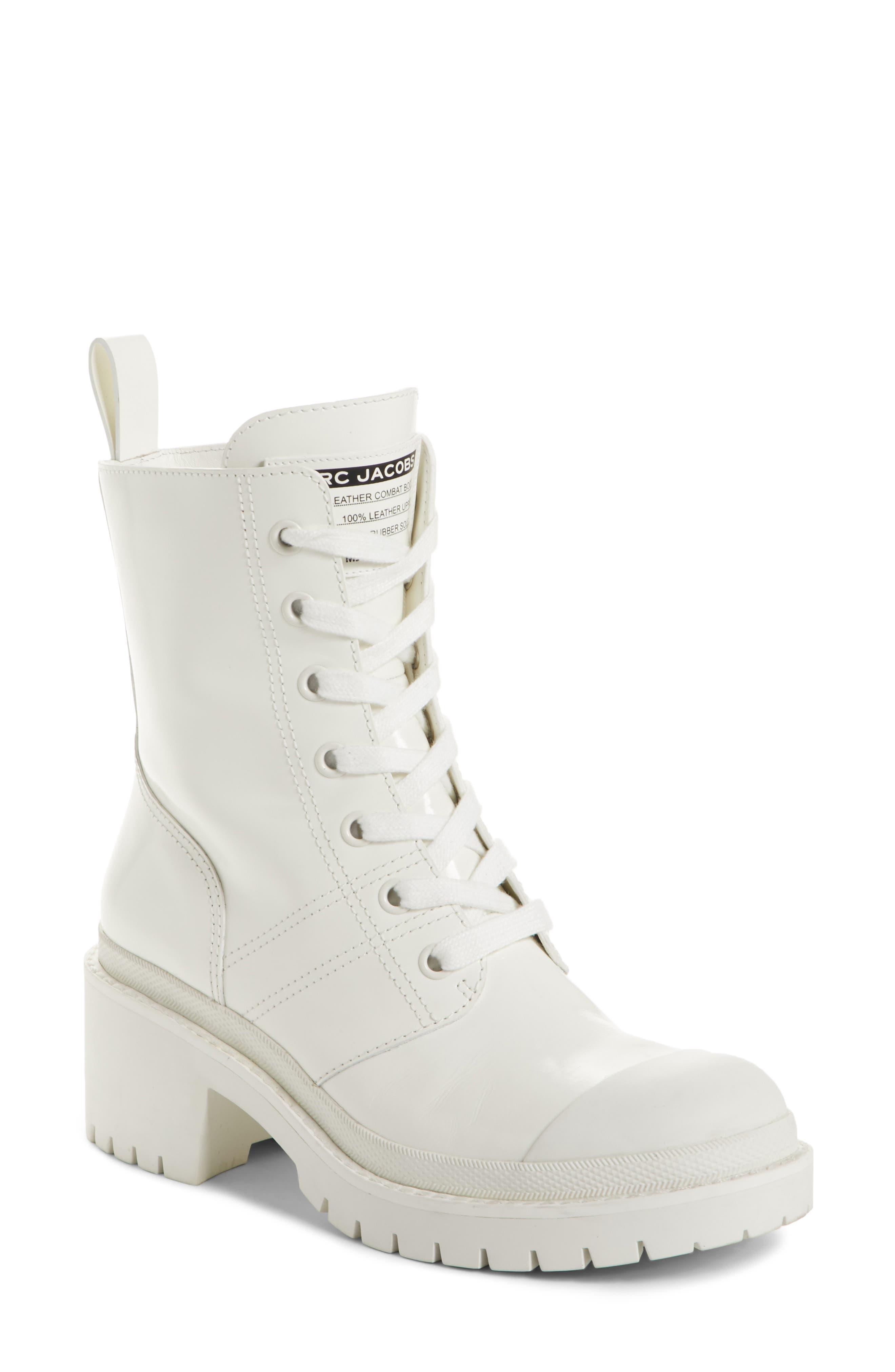 Bristol Lace-Up Boot,                             Main thumbnail 1, color,                             White