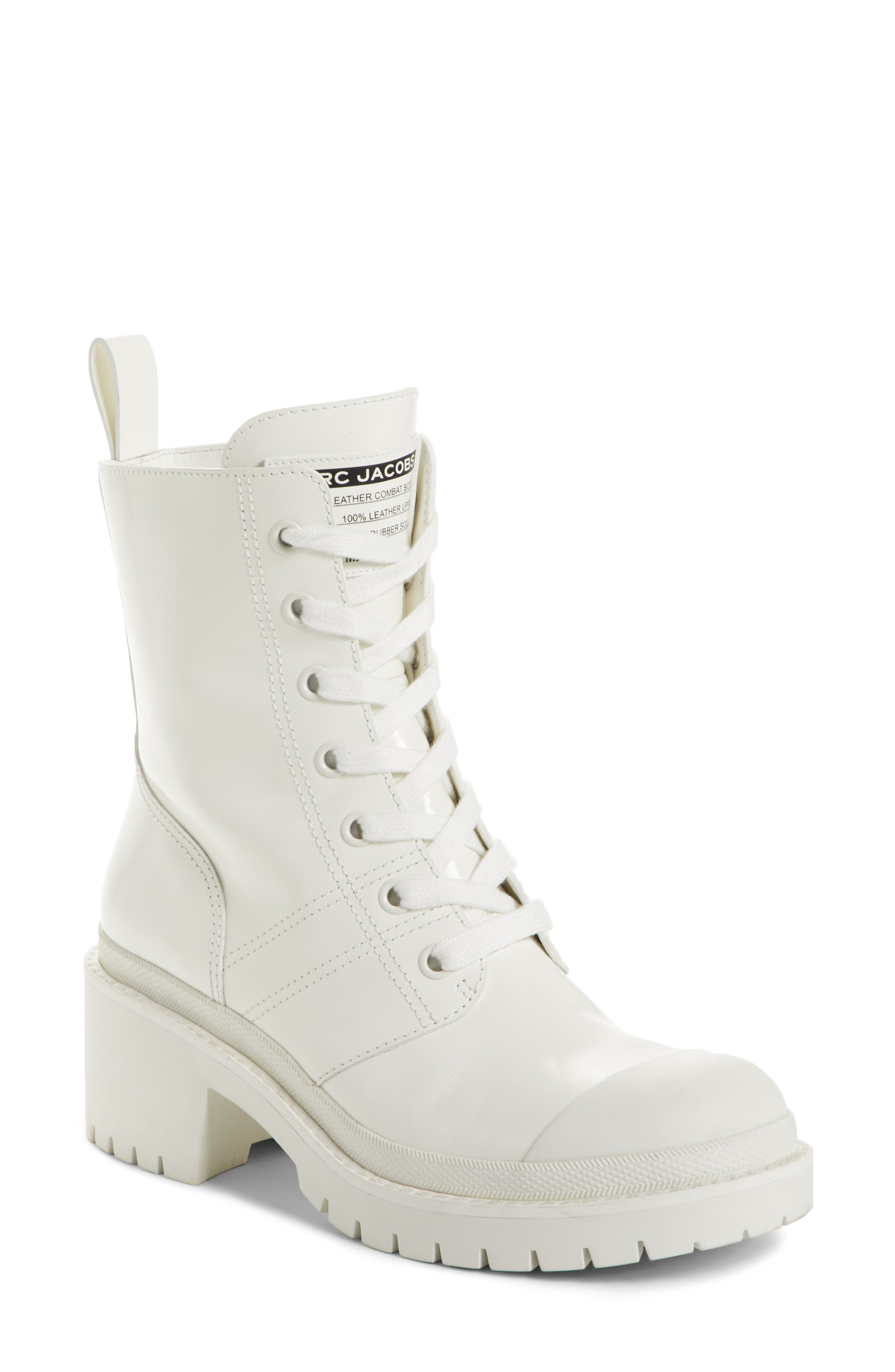Bristol Lace-Up Boot,                         Main,                         color, White