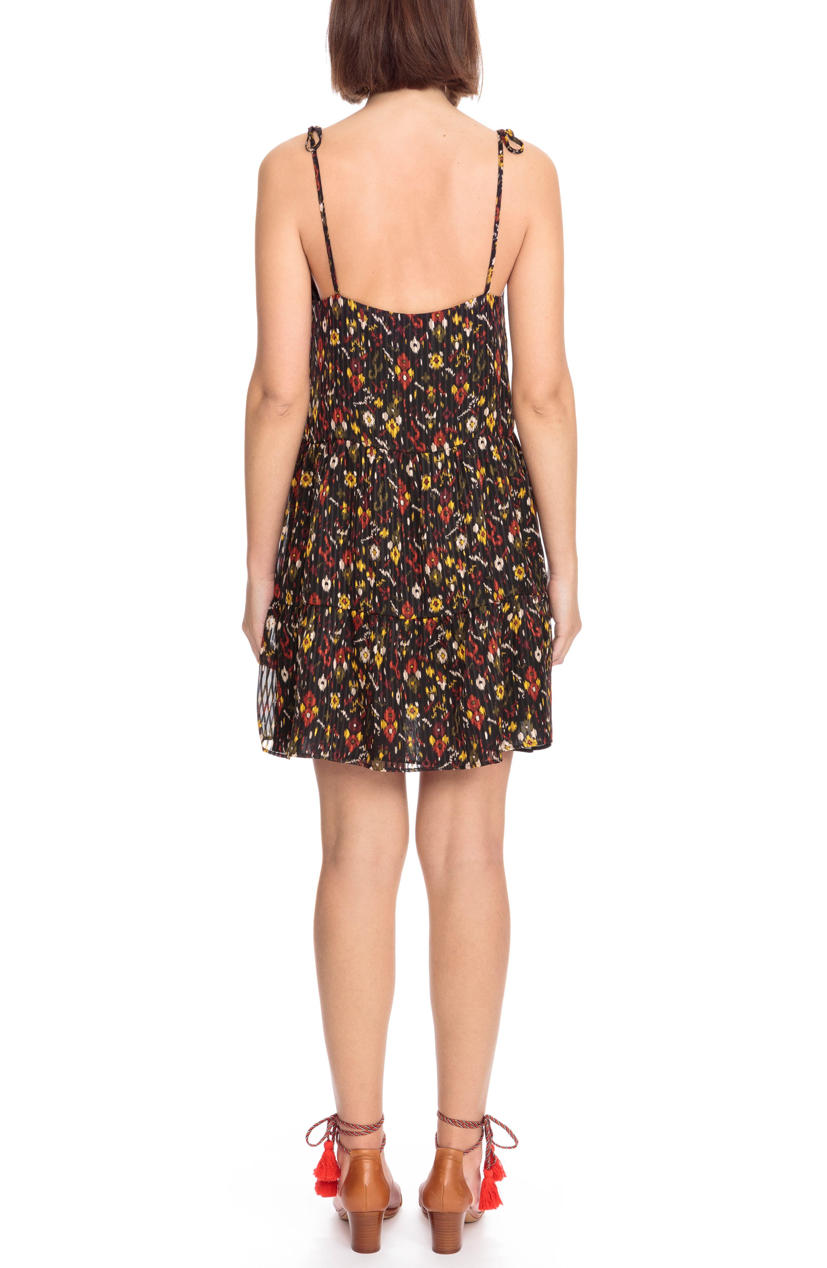 Felicie Floral Tie Strap Dress,                             Alternate thumbnail 2, color,                             Boho Print Red