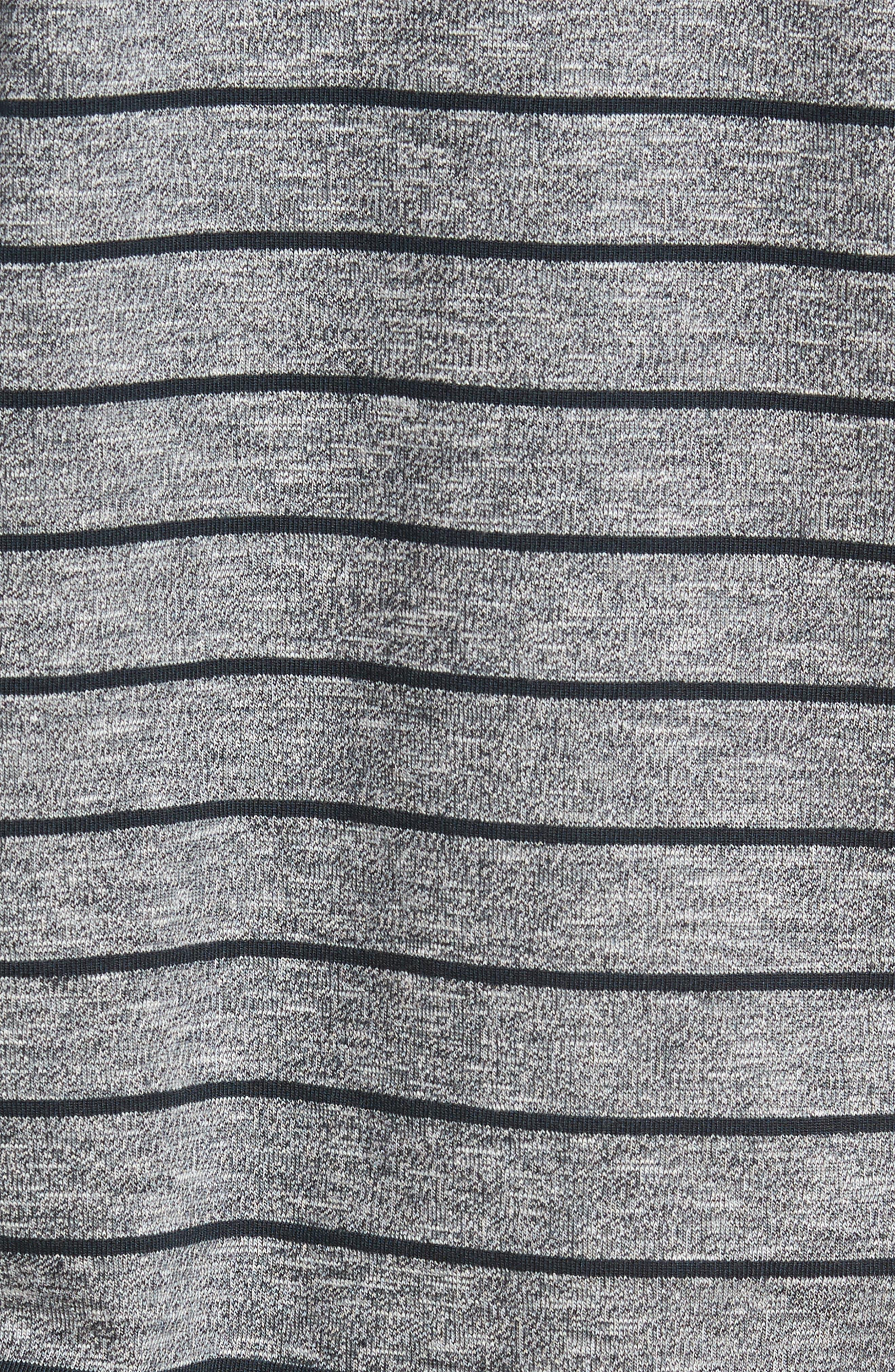 Stripe Polo,                             Alternate thumbnail 5, color,                             Grey Heather Navy Stripe
