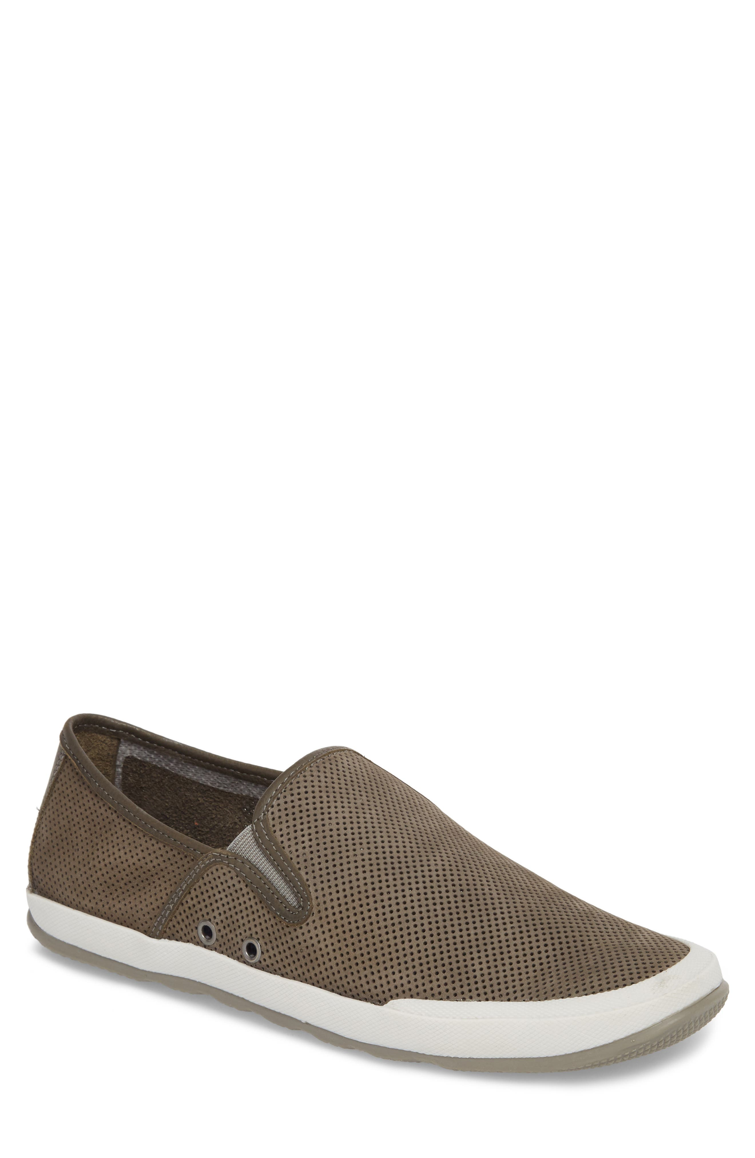 'Mullen' Slip-On,                         Main,                         color, Grey Perfed Nubuck
