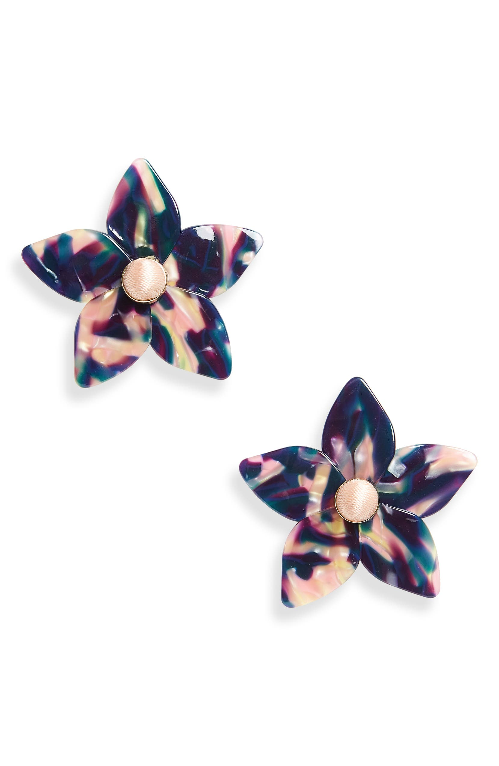 studs and best fashion petals earring on big statement acrylic design gift earrings stone images piercing woman stud opal pinterest flower personality