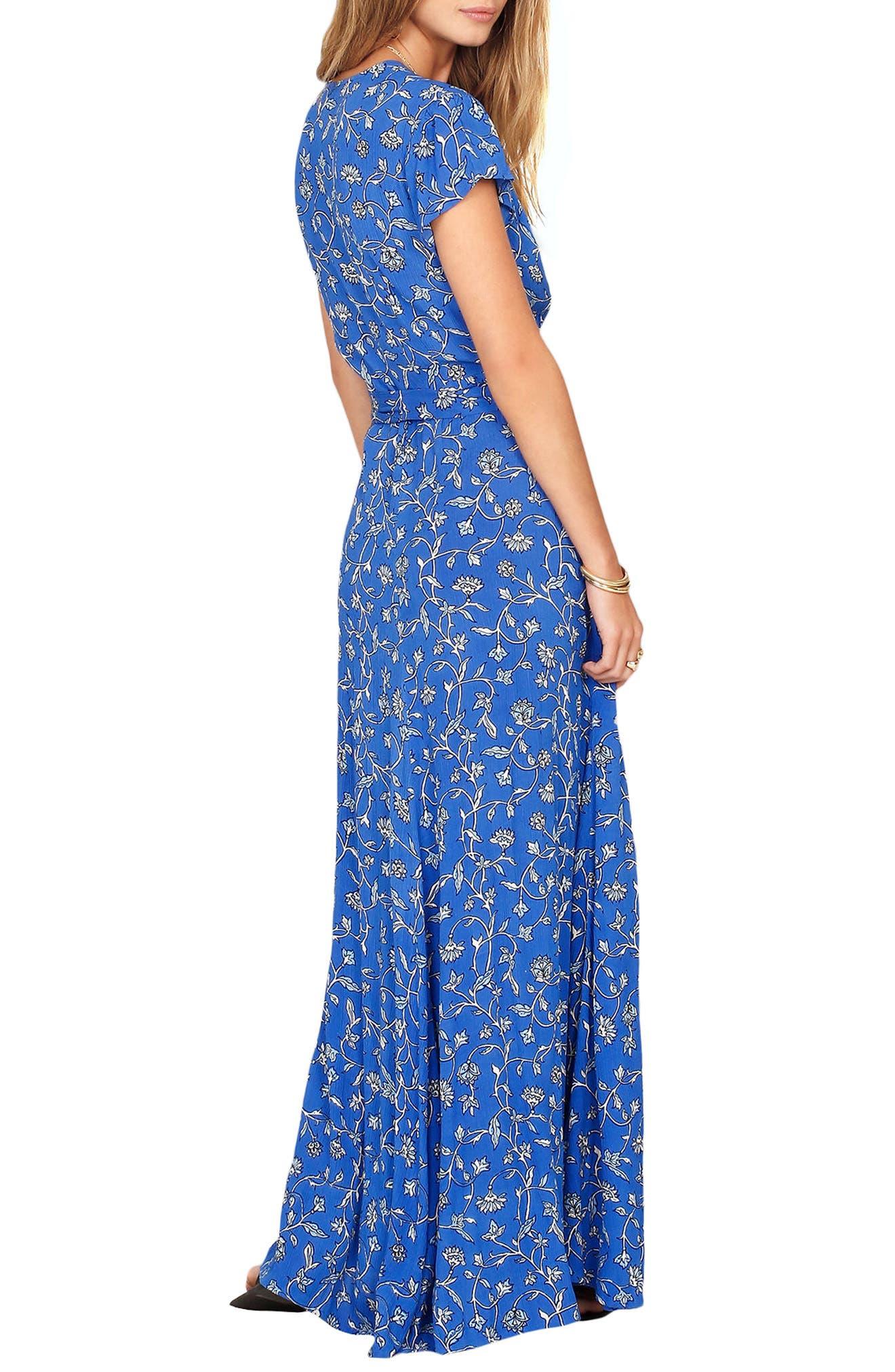Summer Safari Wrap Dress,                             Alternate thumbnail 2, color,                             Blue Coast