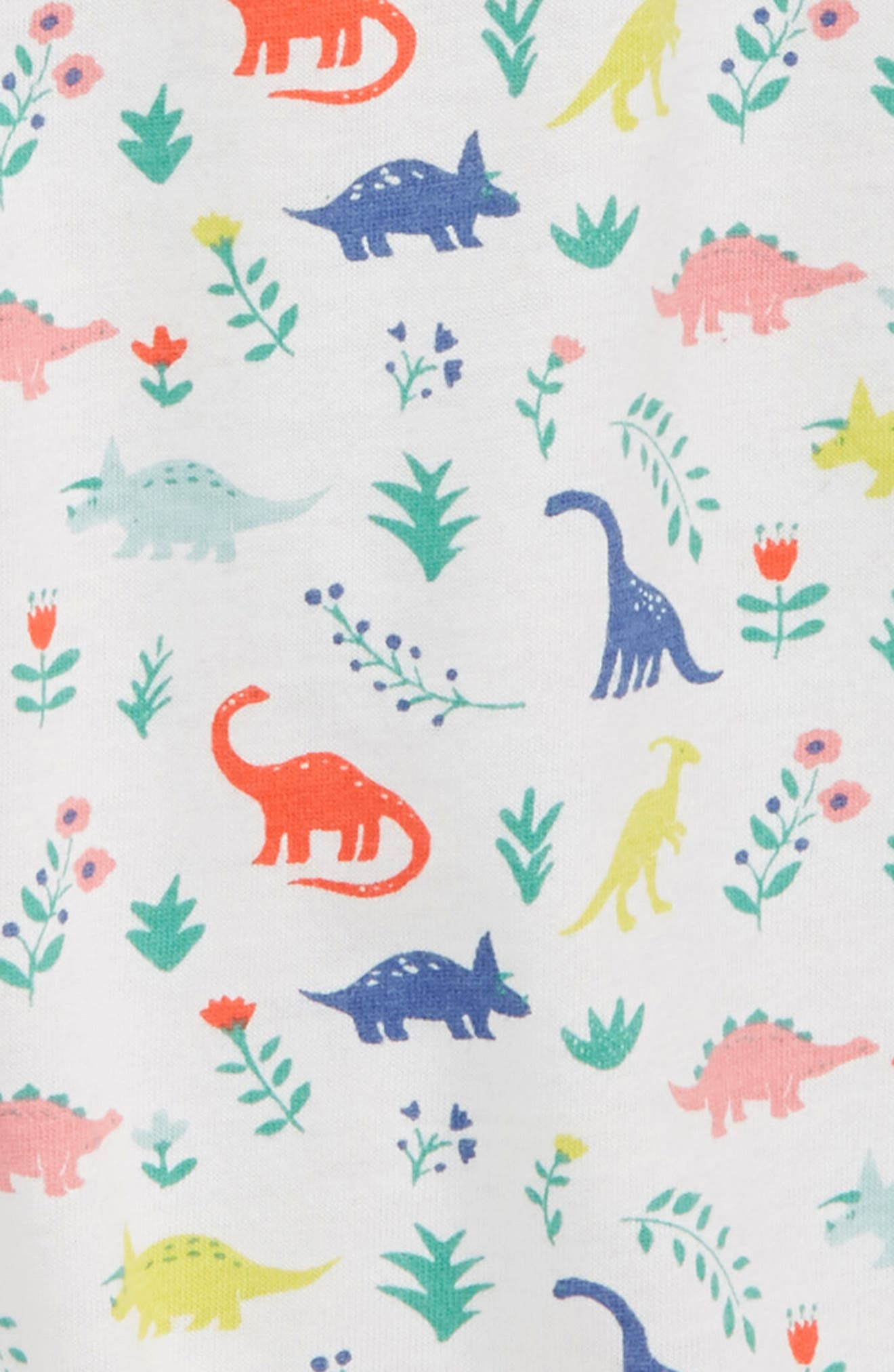 Print Nightgown,                             Alternate thumbnail 2, color,                             Ivory Dino Floral