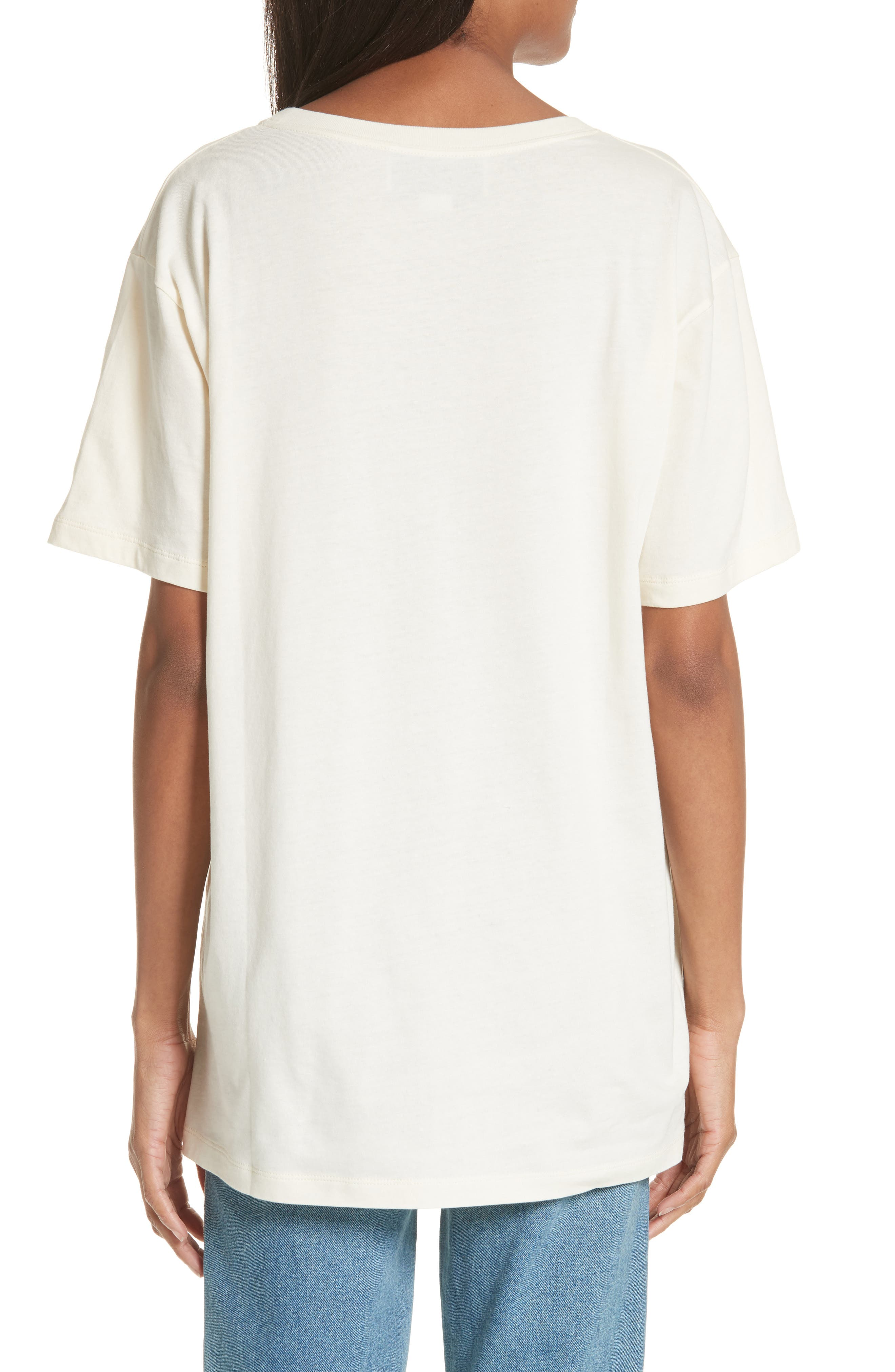 Cotton Graphic Tee,                             Alternate thumbnail 2, color,                             Ivory