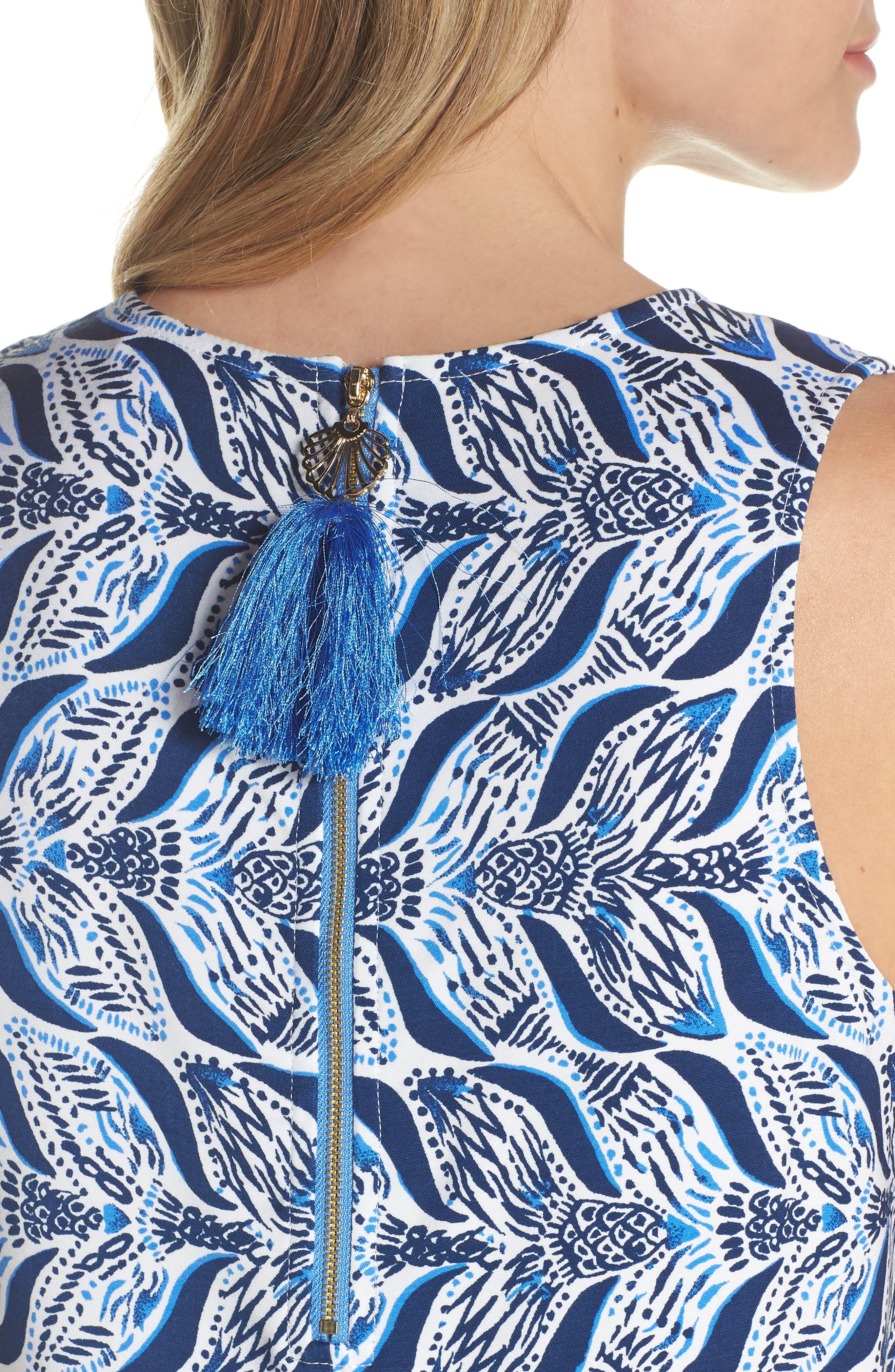 Kelby Shift Dress,                             Alternate thumbnail 4, color,                             Resort White A Mermaids Tail