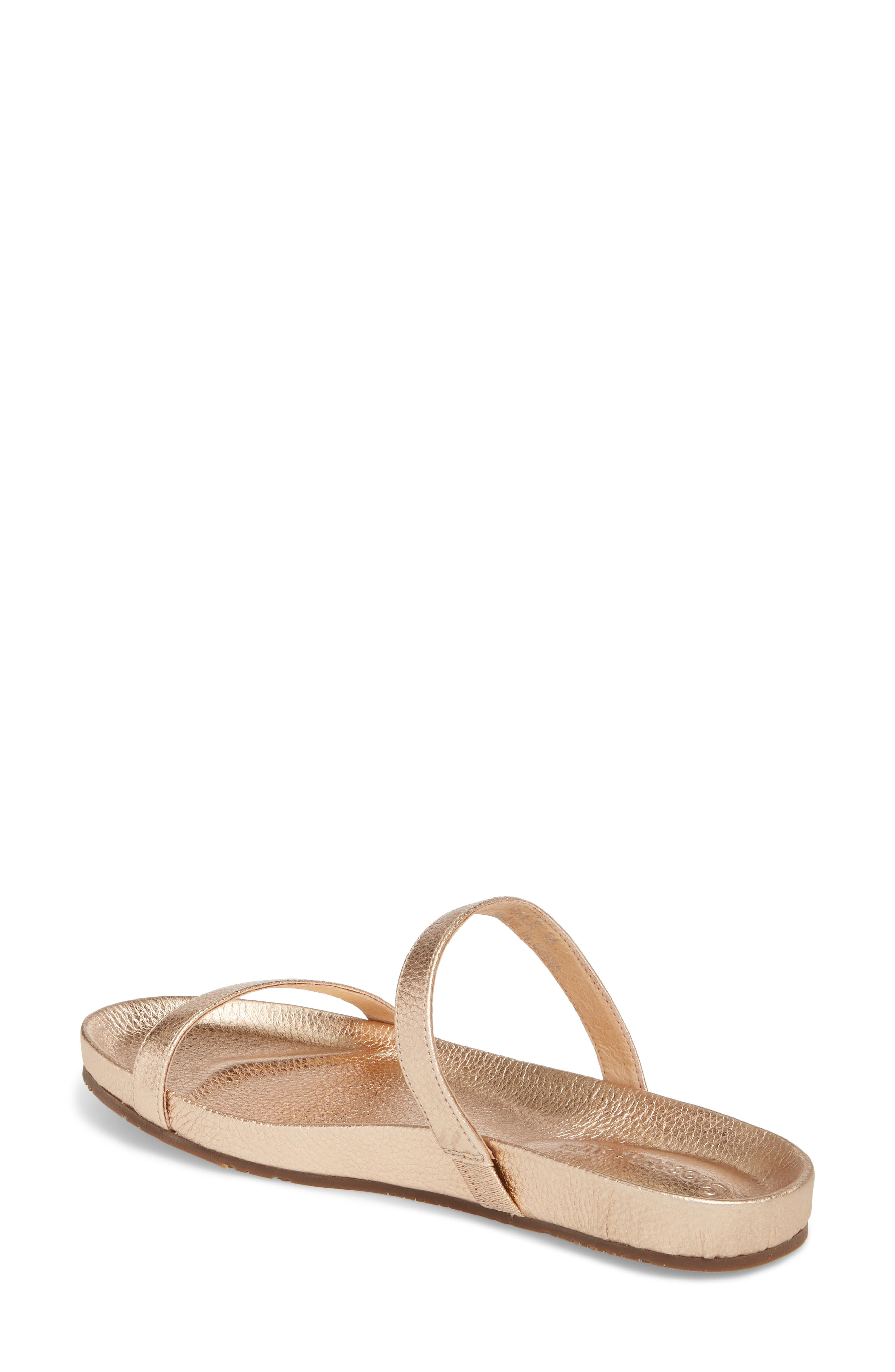 Yale Two-Strap Sandal,                             Alternate thumbnail 2, color,                             Rose Gold Leather