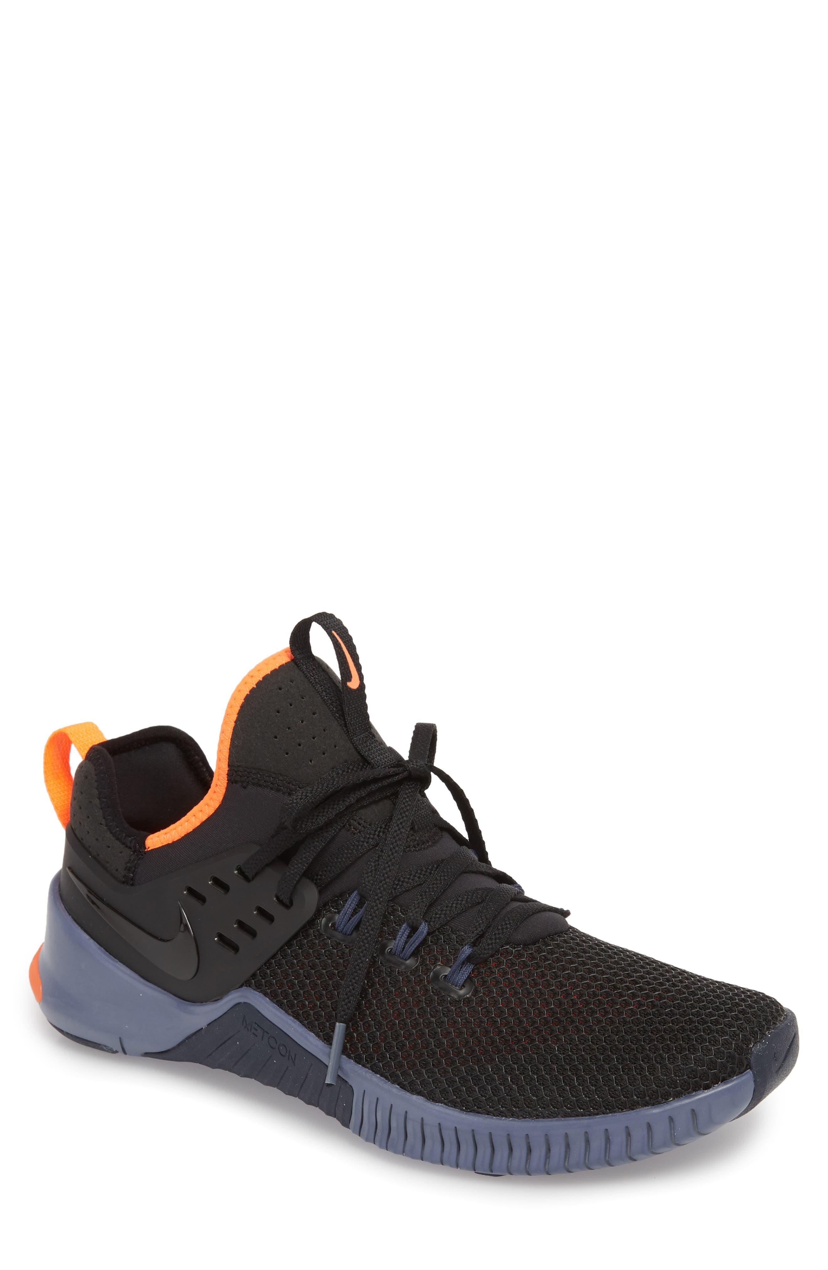 Free x Metcon Training Shoe,                         Main,                         color, Black/ Thunder Blue