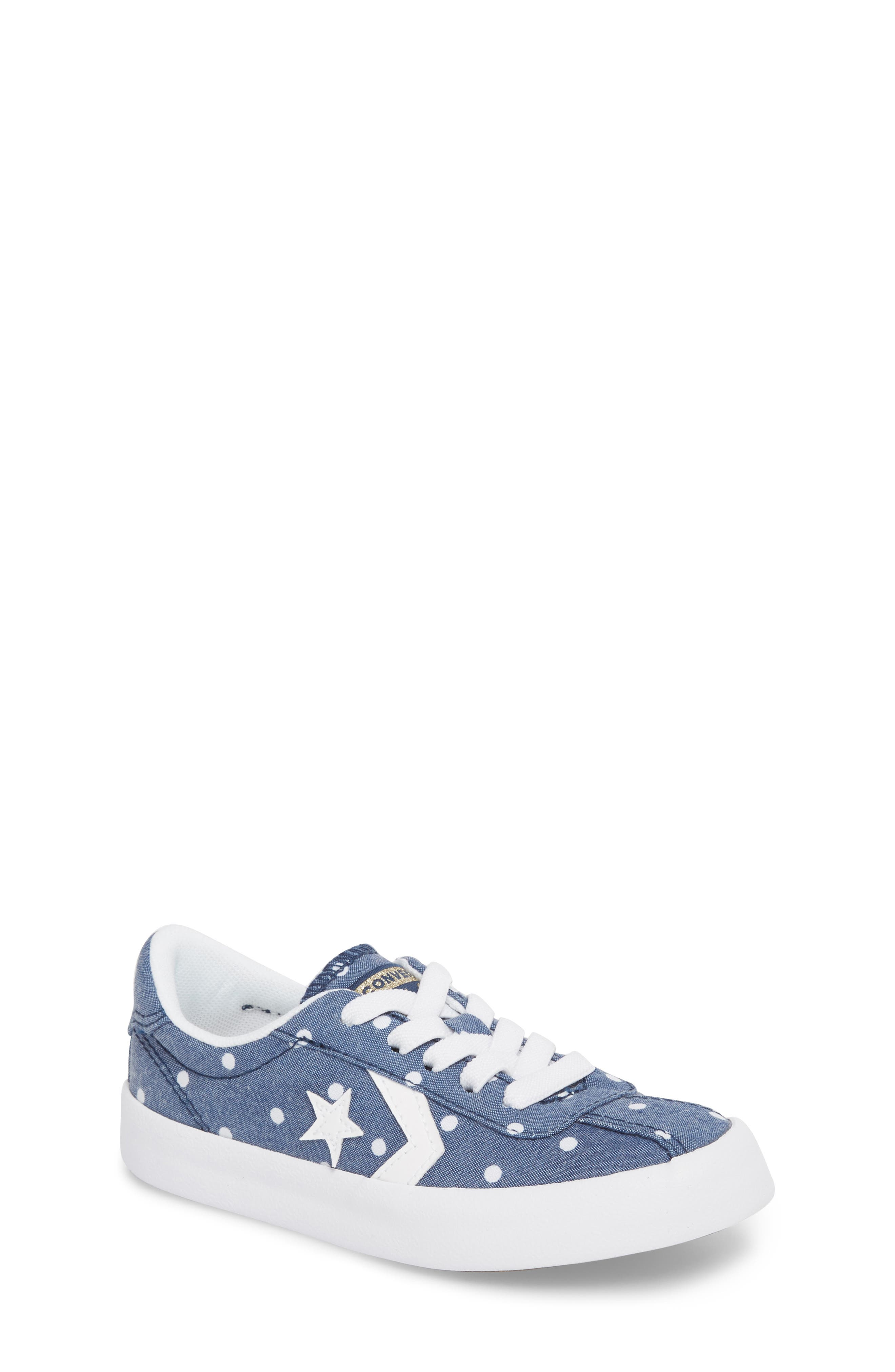 Breakpoint Polka Dot Sneaker,                             Main thumbnail 1, color,                             Navy