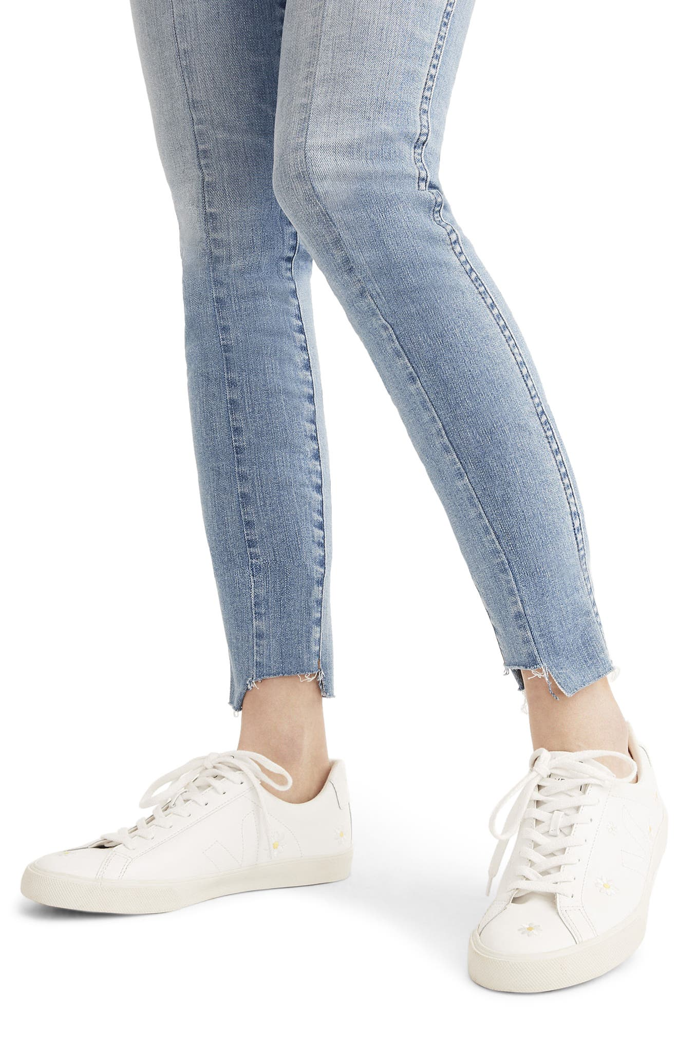 Alternate Image 4  - Madewell 9-Inch Seamed High Waist Step Hem Skinny Jeans (August)