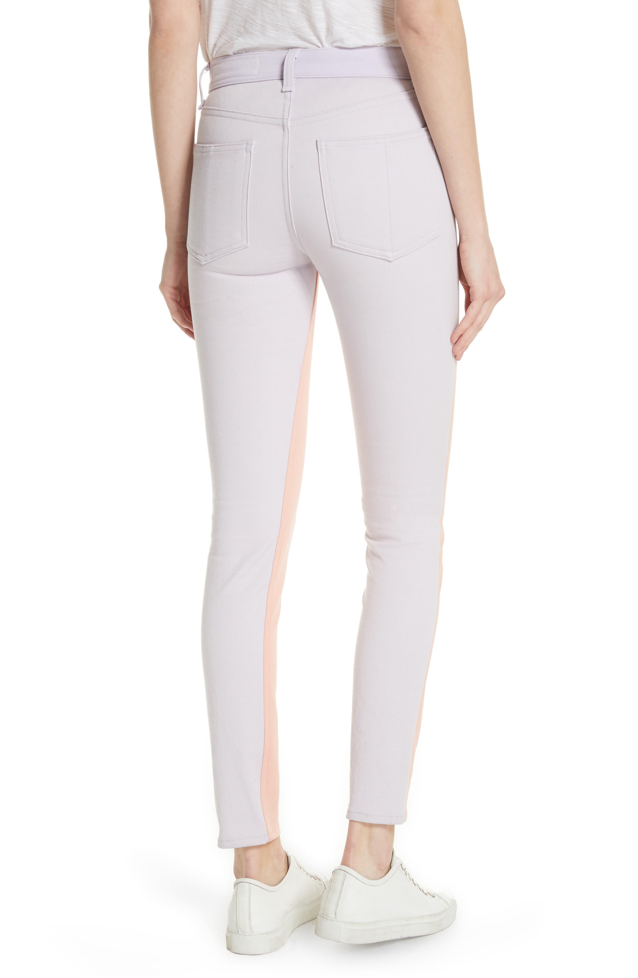 High Waist Skinny Jeans,                             Alternate thumbnail 2, color,                             Peach/ Lilac