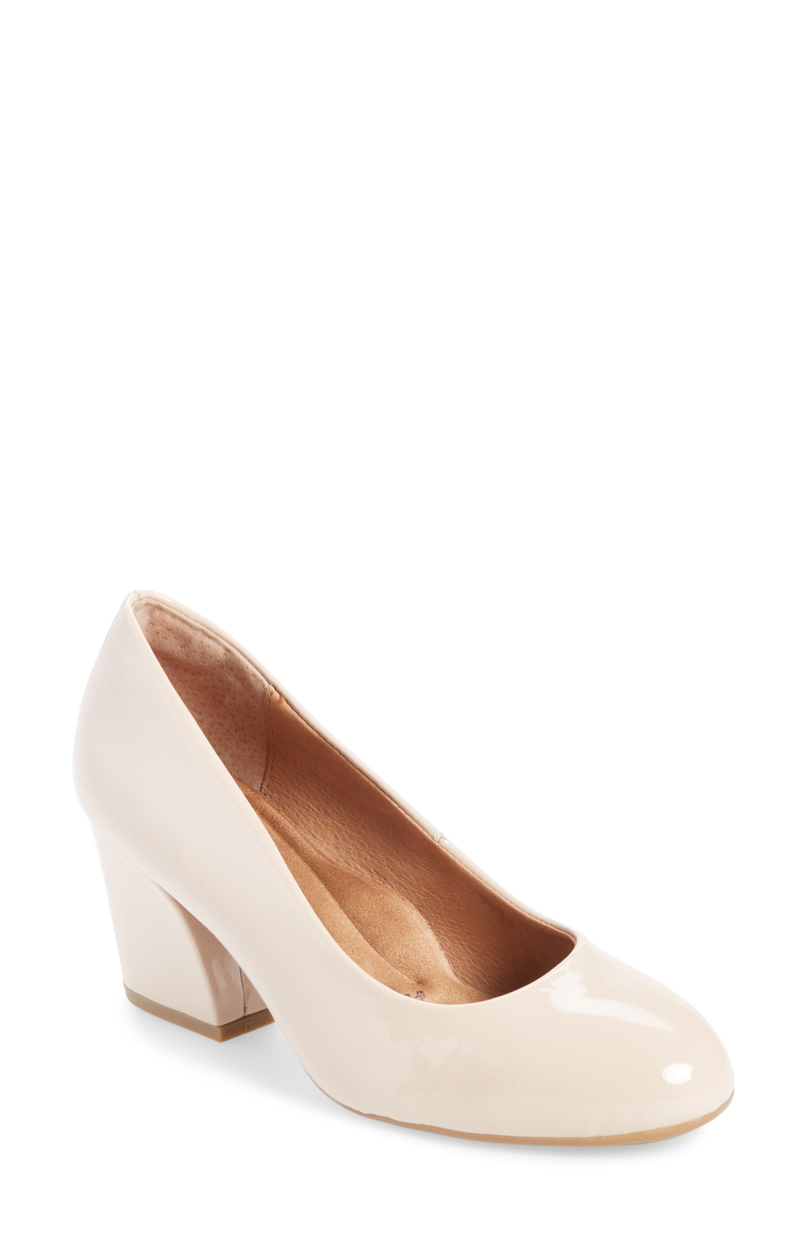 Tamira Pump,                             Main thumbnail 1, color,                             Nude Patent Leather
