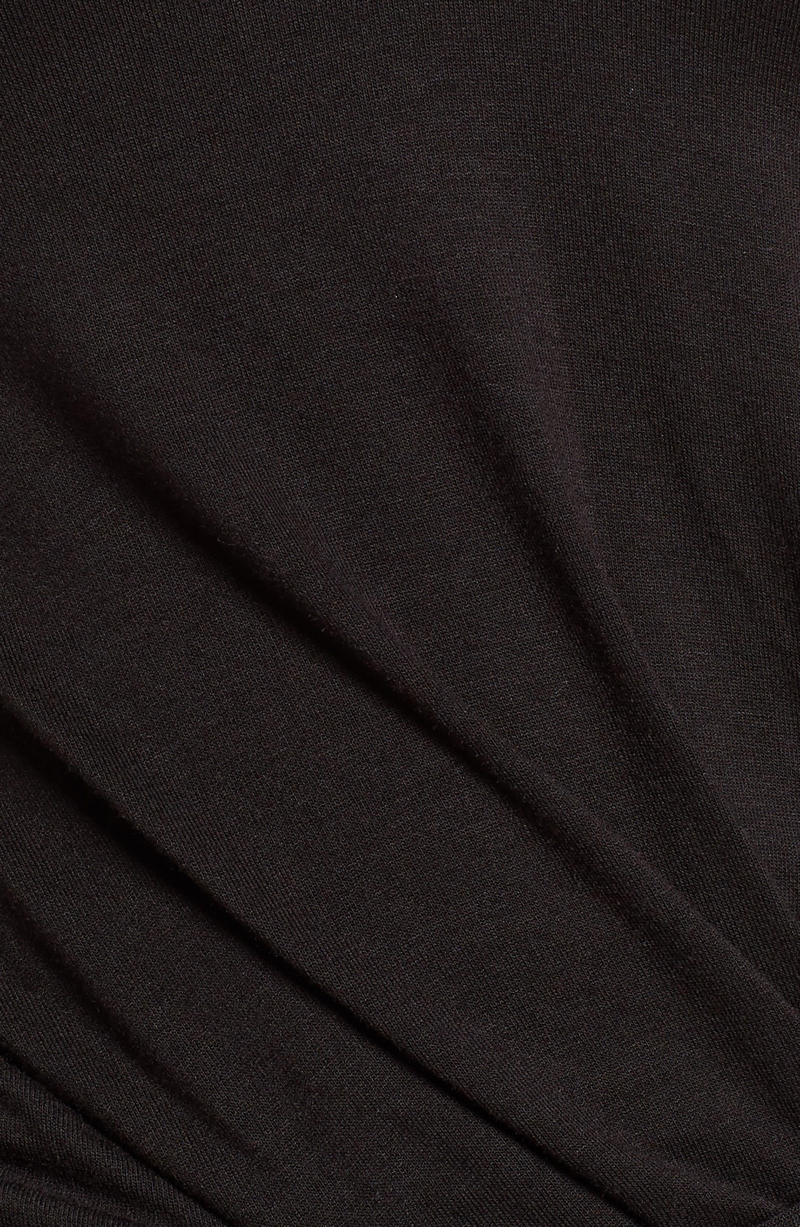 V-Neck Dress,                             Alternate thumbnail 6, color,                             Black Multi