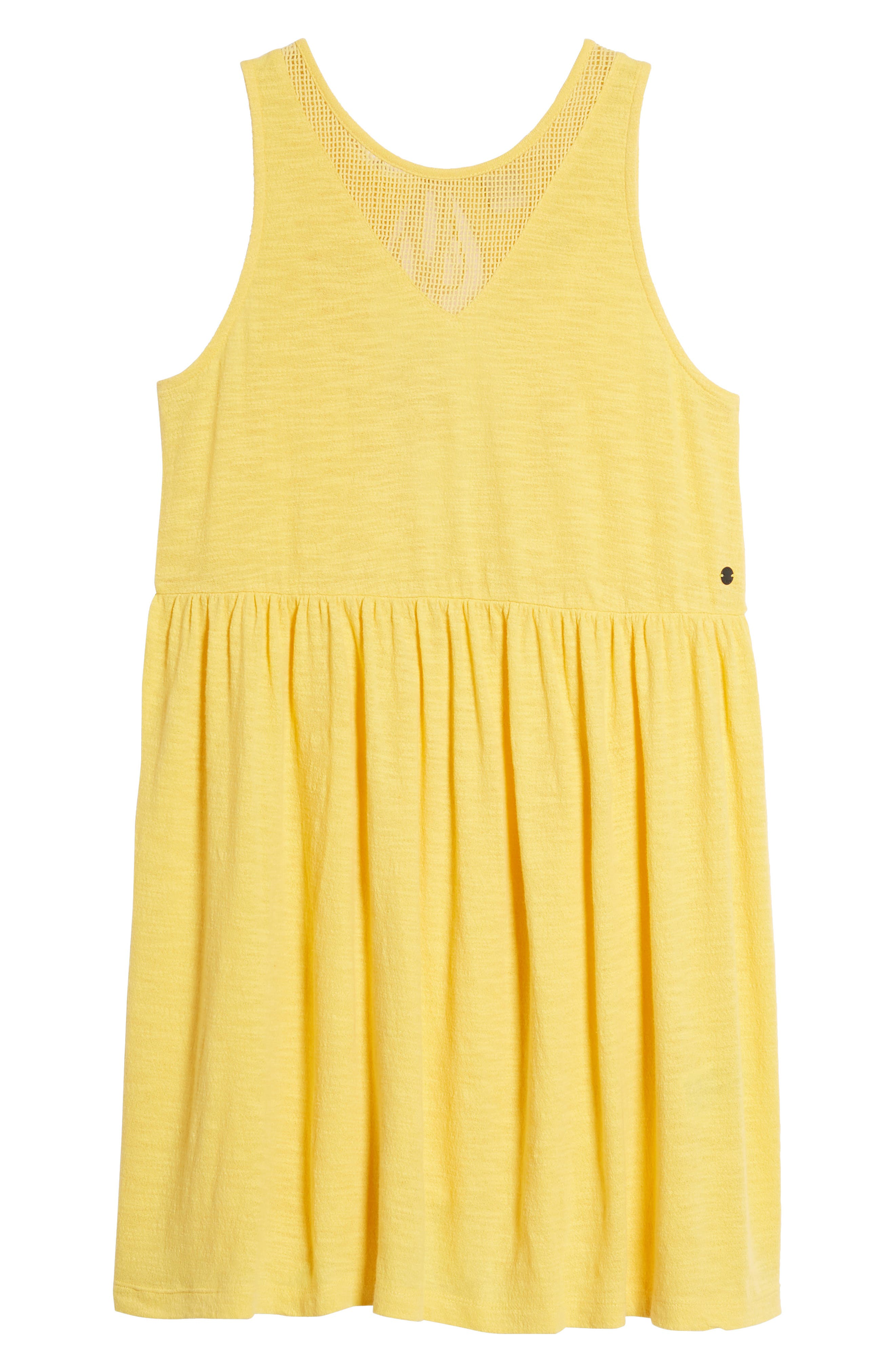 Tucson Cotton Dress,                             Alternate thumbnail 7, color,                             Buff Yellow
