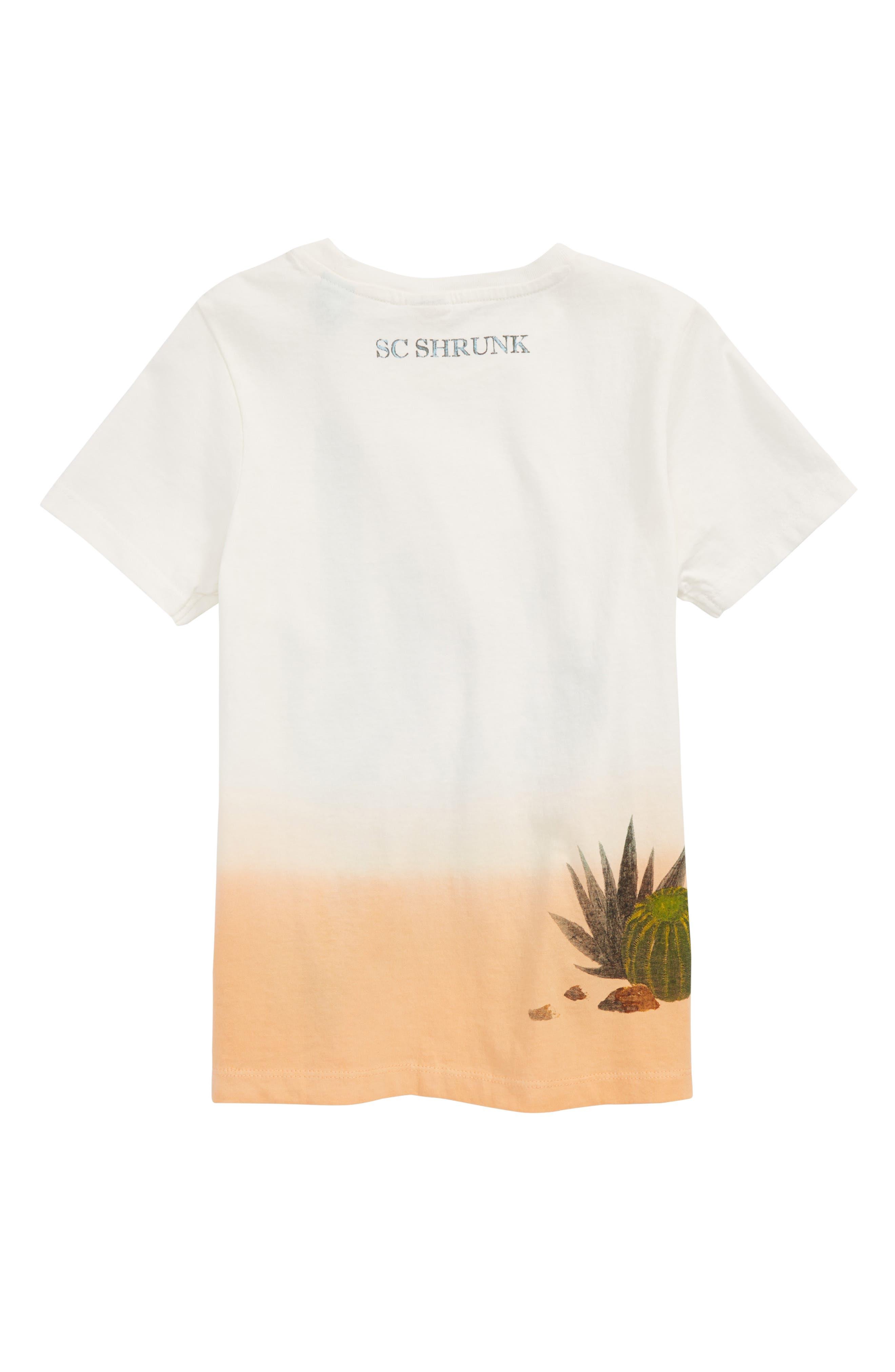 Cacti Screenprint T-Shirt,                             Alternate thumbnail 2, color,                             White