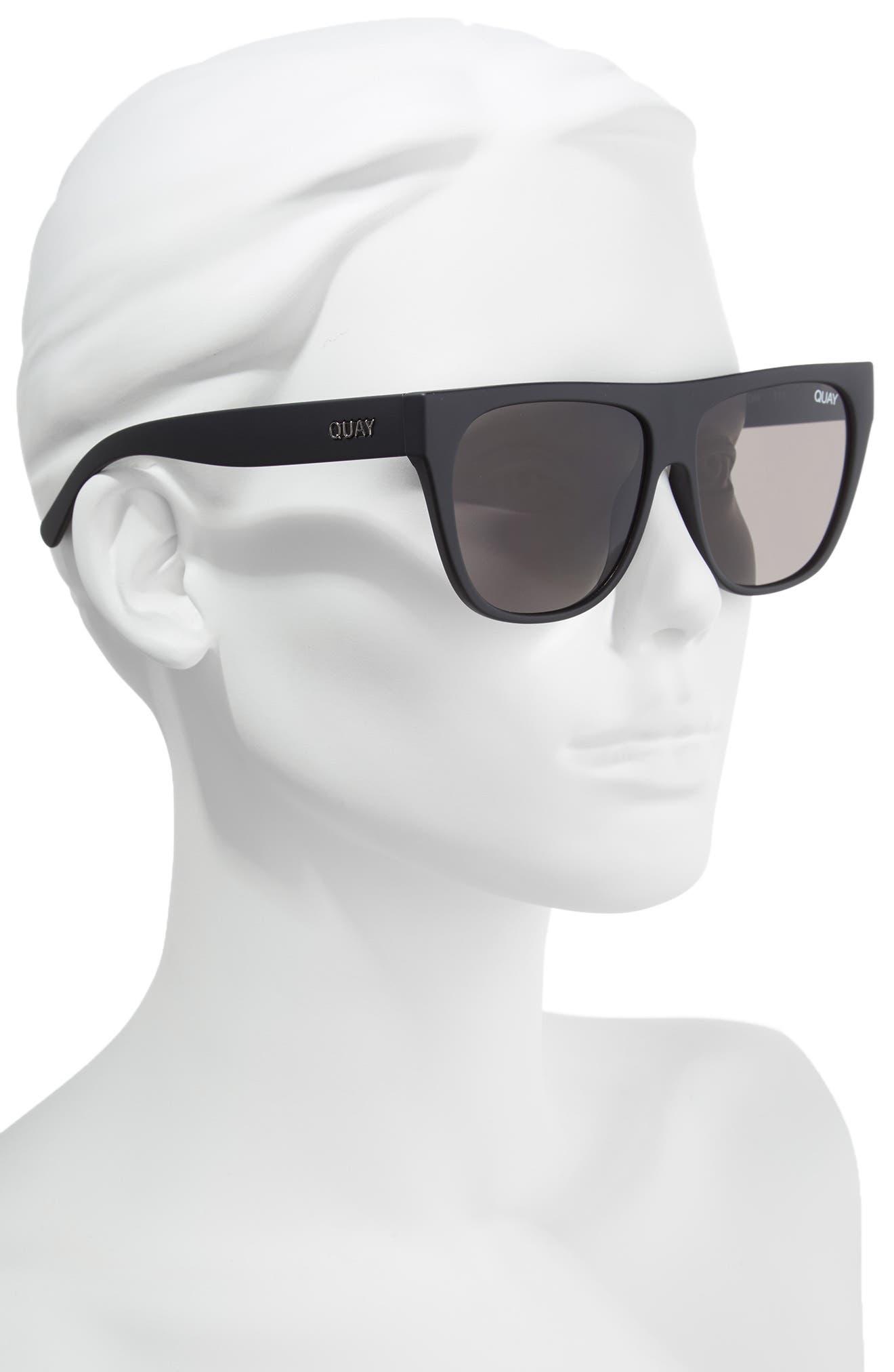 x Tony Bianco Drama by Day 55mm Square Sunglasses,                             Alternate thumbnail 2, color,                             Black/ Smoke