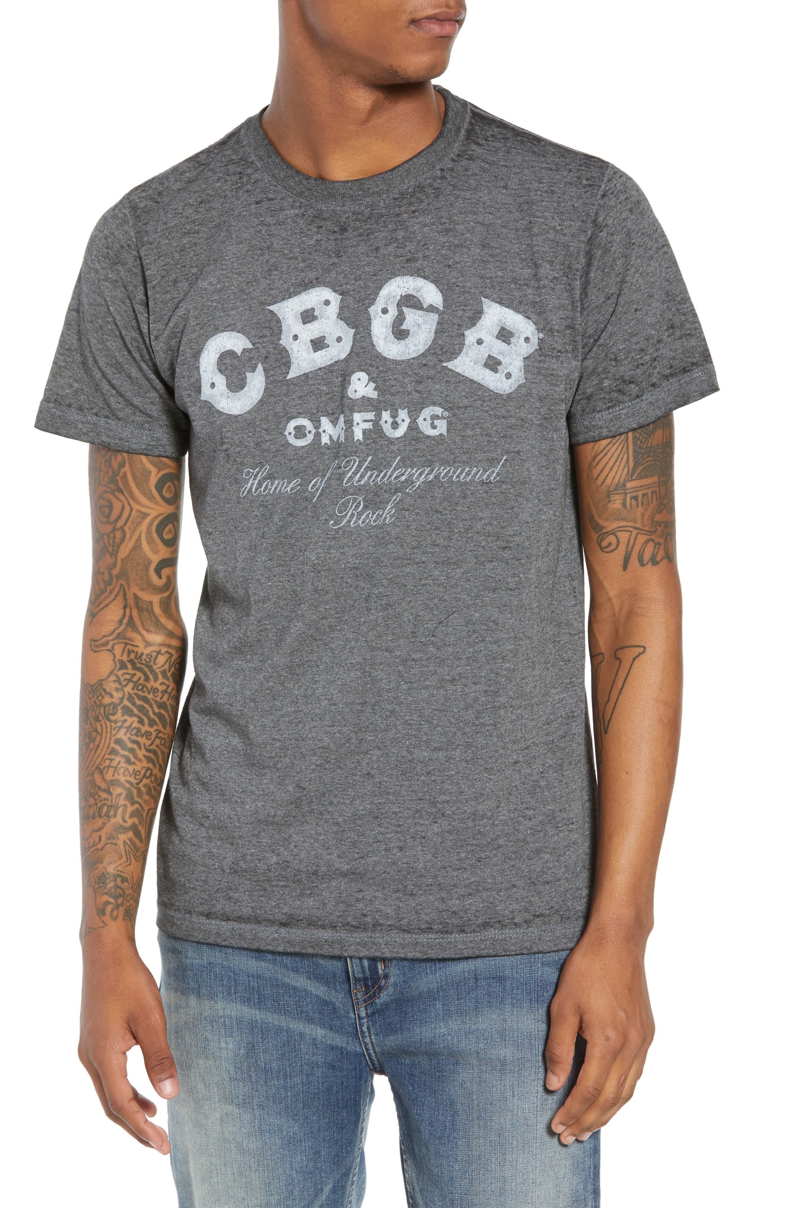 CBGB T-Shirt,                         Main,                         color, Grey Cbgb Burnout