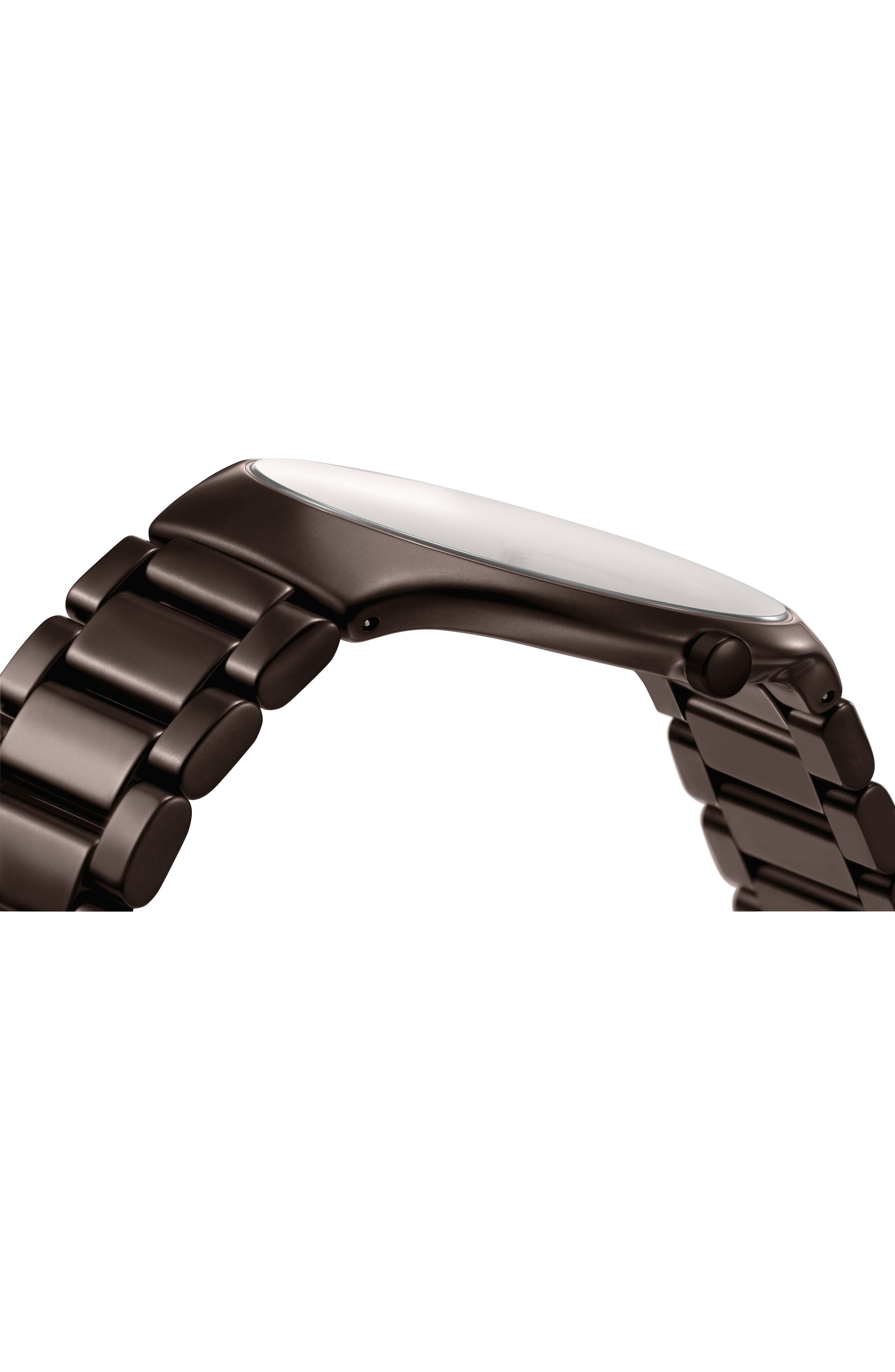 True Thinline Ceramic Bracelet Watch, 39mm,                             Alternate thumbnail 3, color,                             Brown