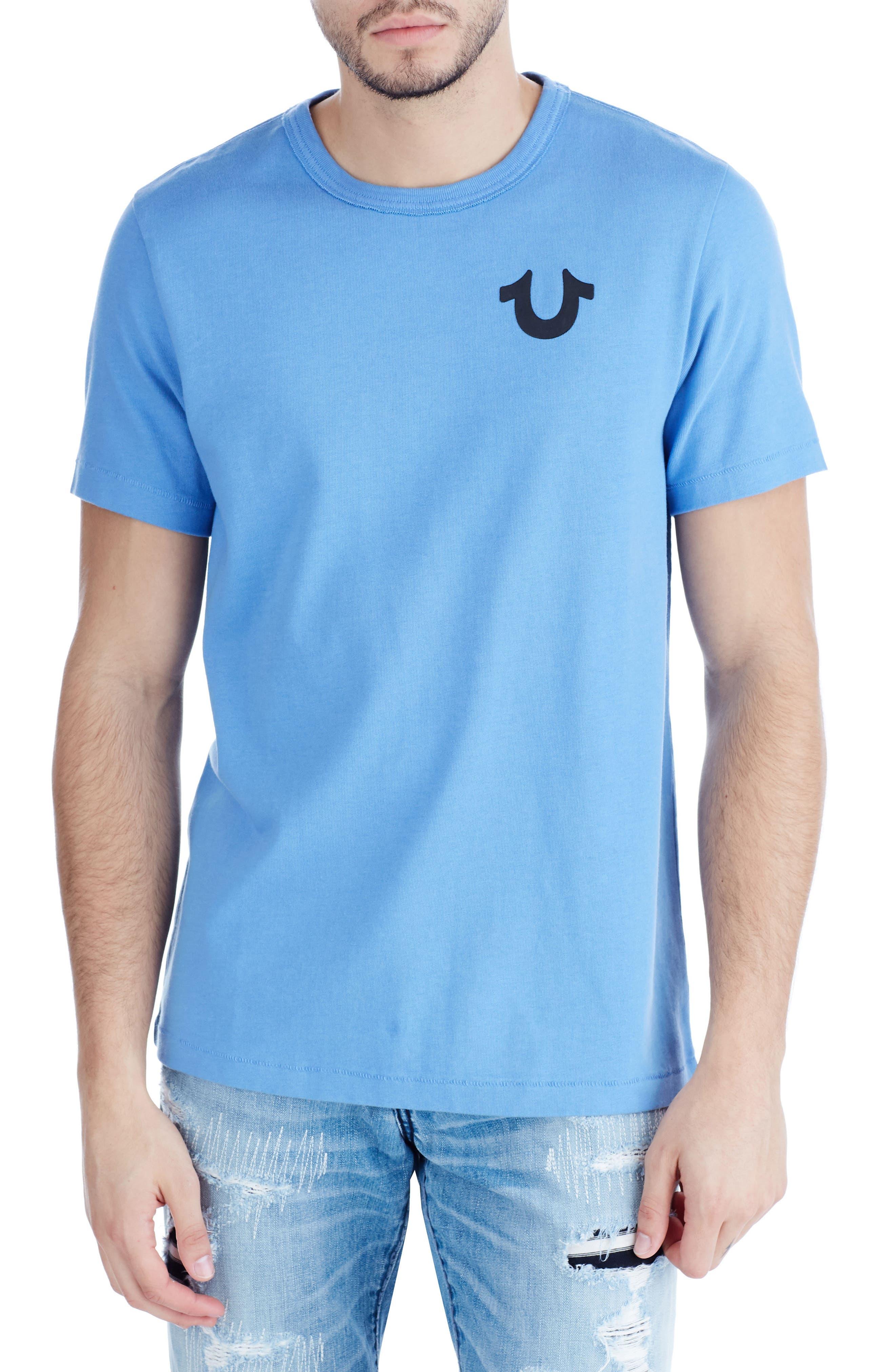 Buddha Graphic T-Shirt,                         Main,                         color, Digital Blue