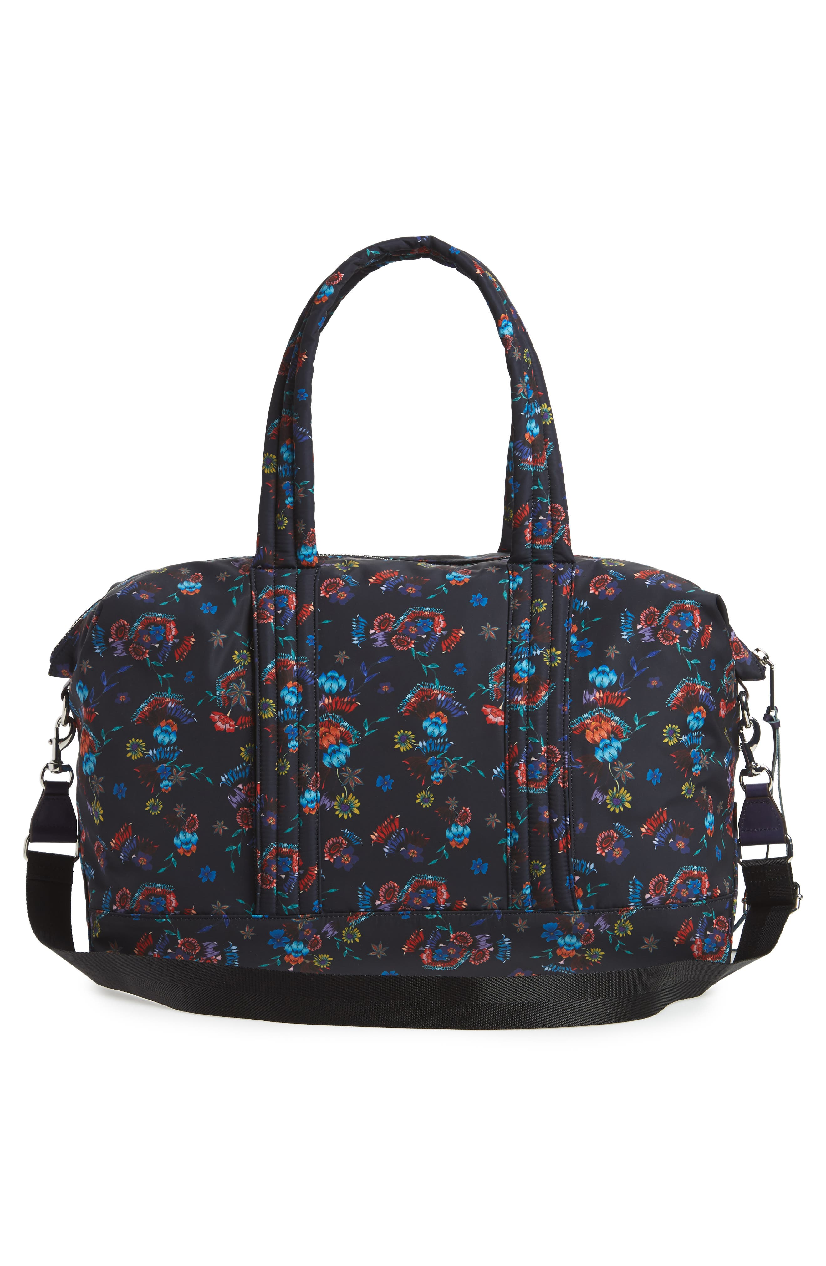 Weekend Nylon Duffel Bag,                             Alternate thumbnail 3, color,                             Floral Blue