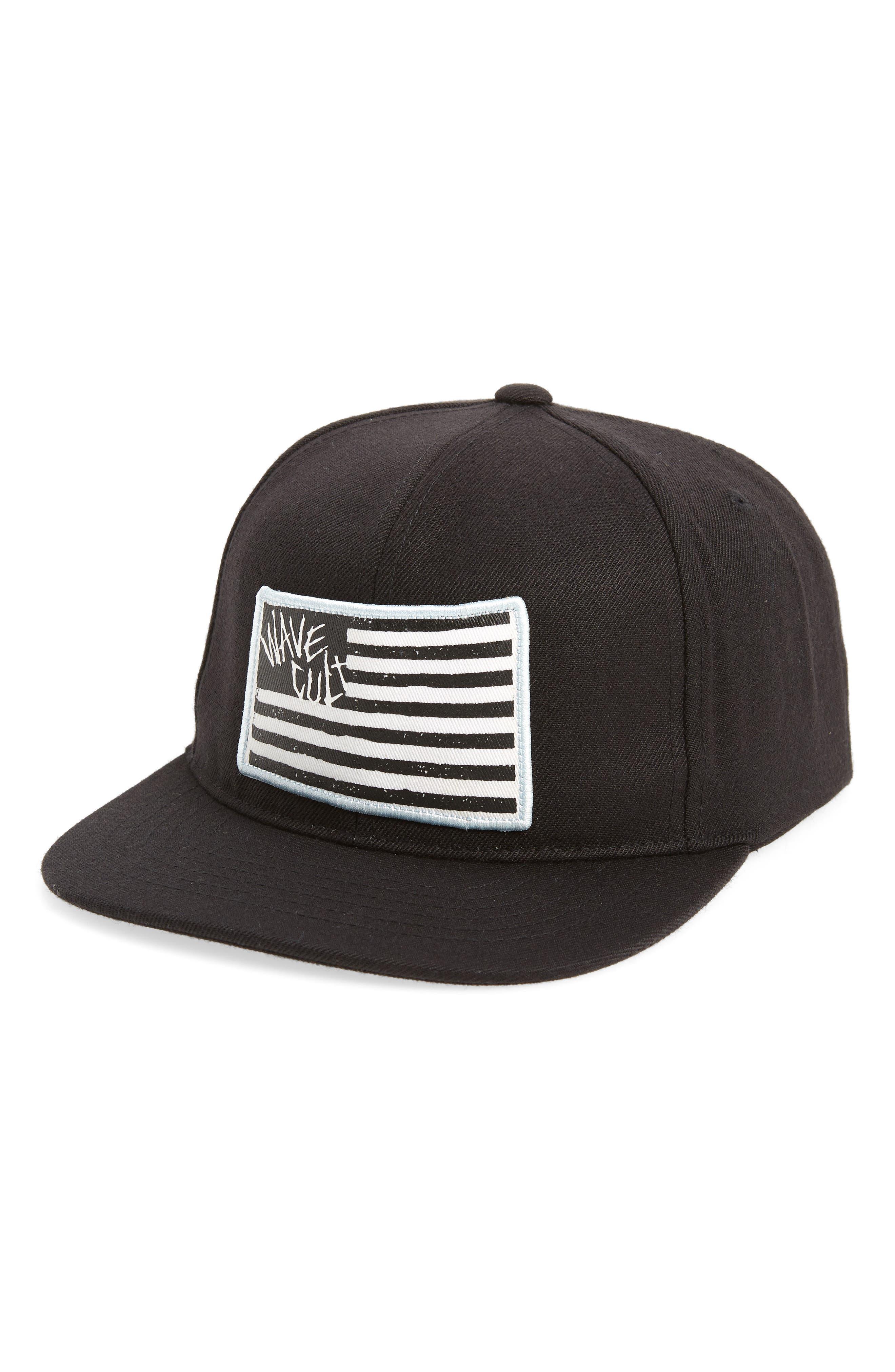 Wave Core Baseball Cap,                         Main,                         color, Black