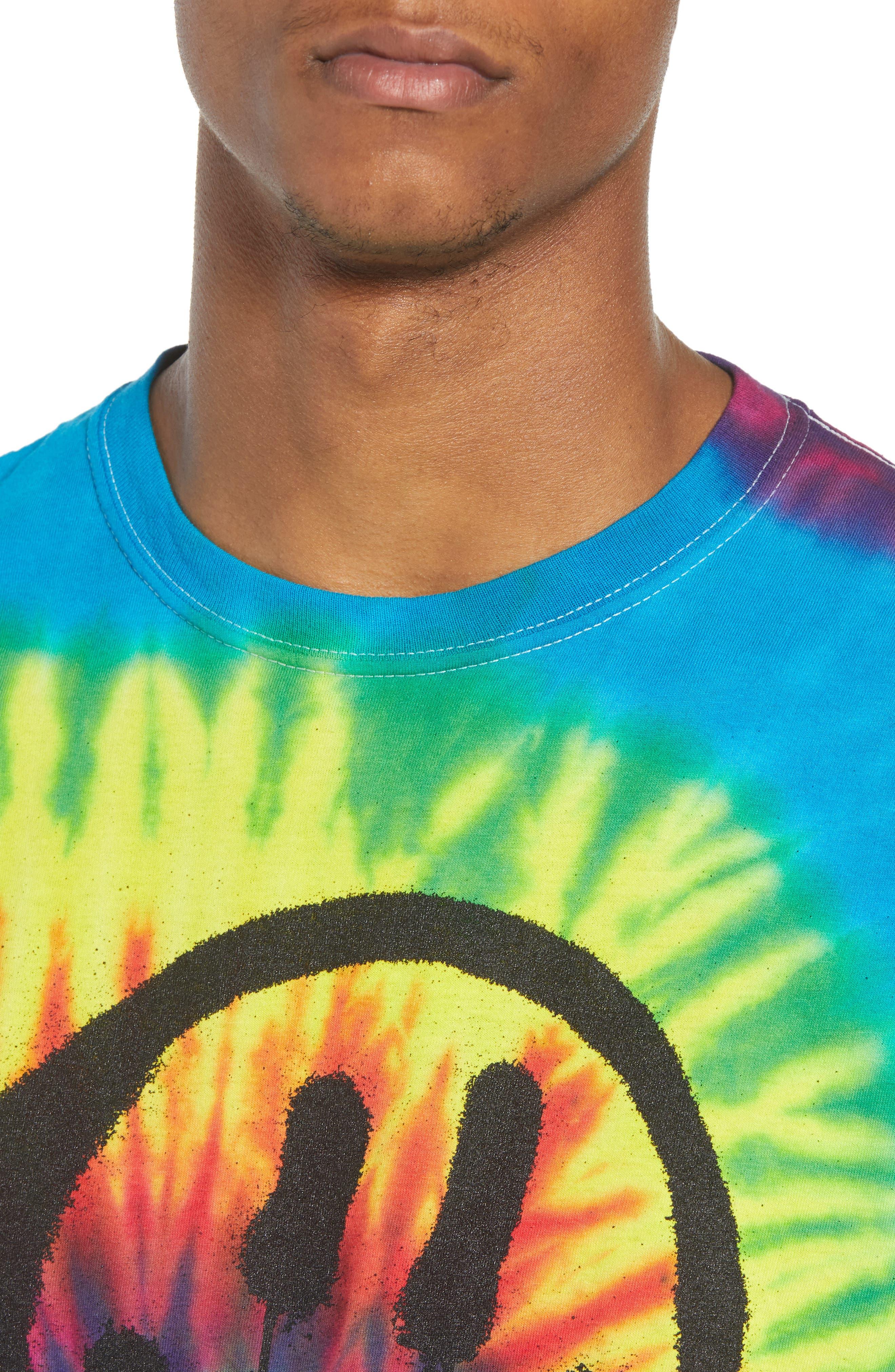 Tie Dye Smiley T-Shirt,                             Alternate thumbnail 4, color,                             Tie Dye Smile
