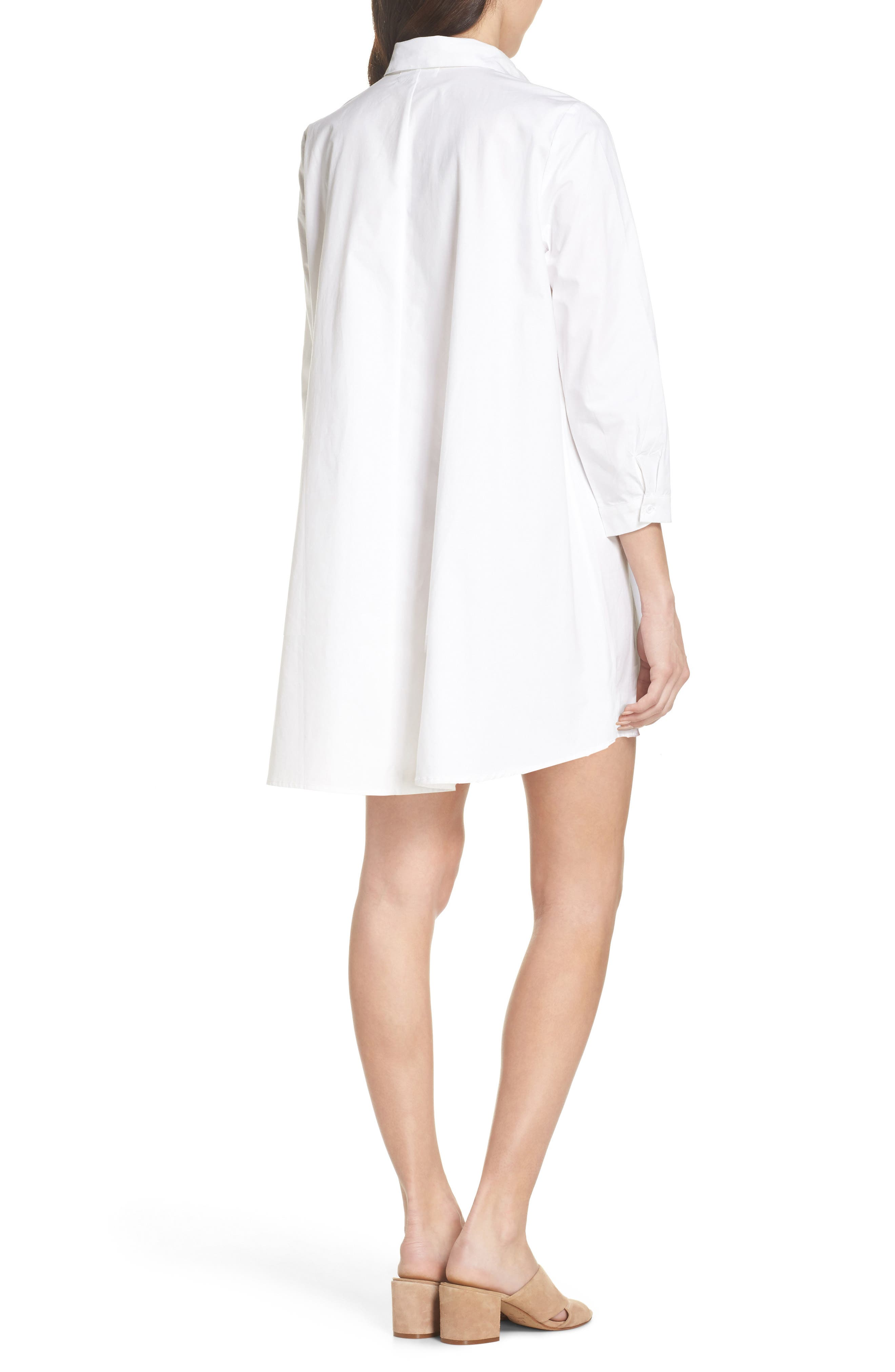 Colt Cotton Poplin Shirtdress,                             Alternate thumbnail 2, color,                             Optic White