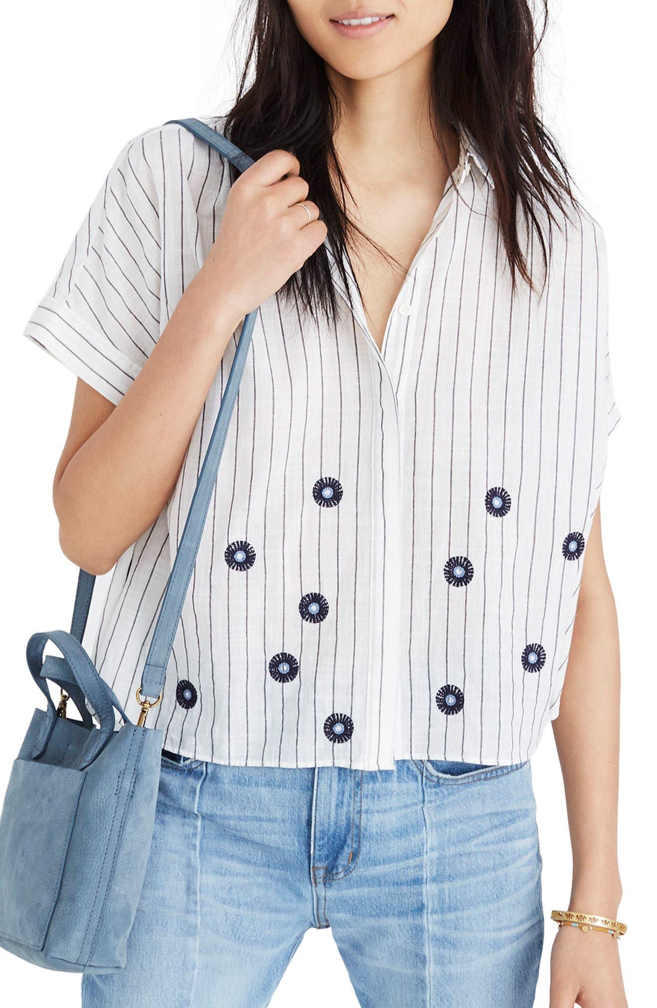 Embroidered Hilltop Shirt,                         Main,                         color, Dark Metal