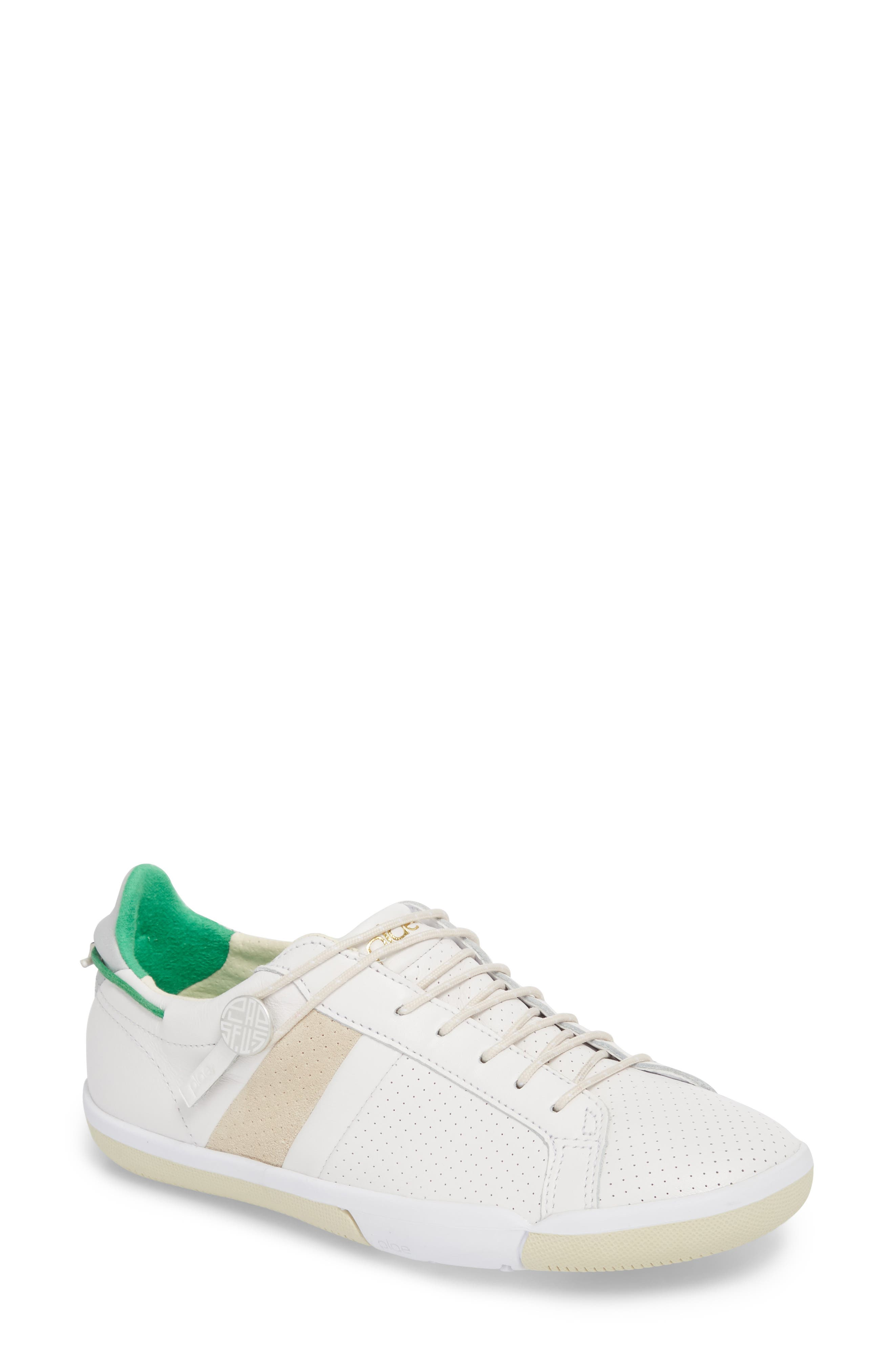 Mulberry Sneaker,                             Main thumbnail 1, color,                             White Leather
