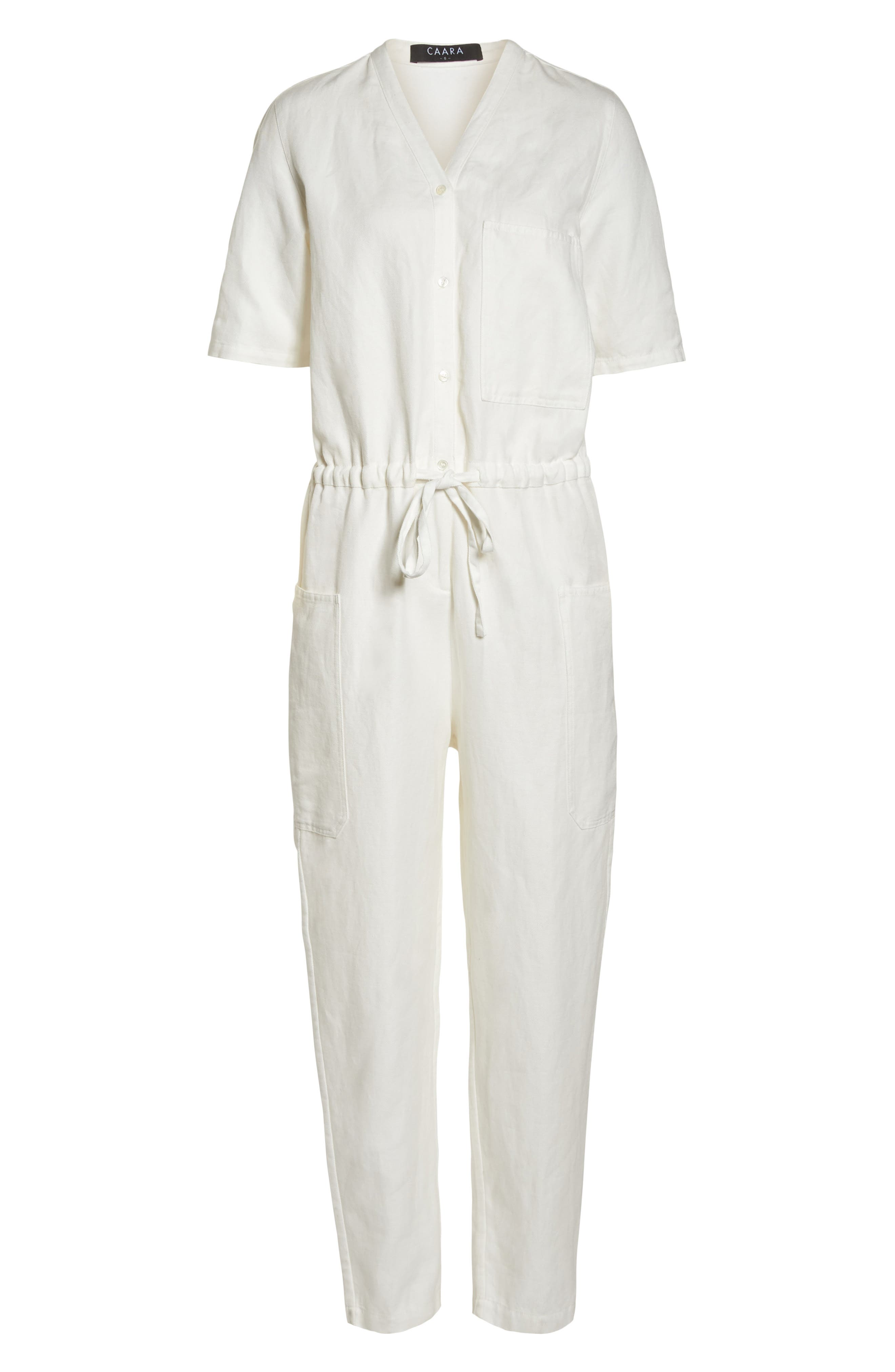 Keep It Cool Jumpsuit,                             Alternate thumbnail 7, color,                             White
