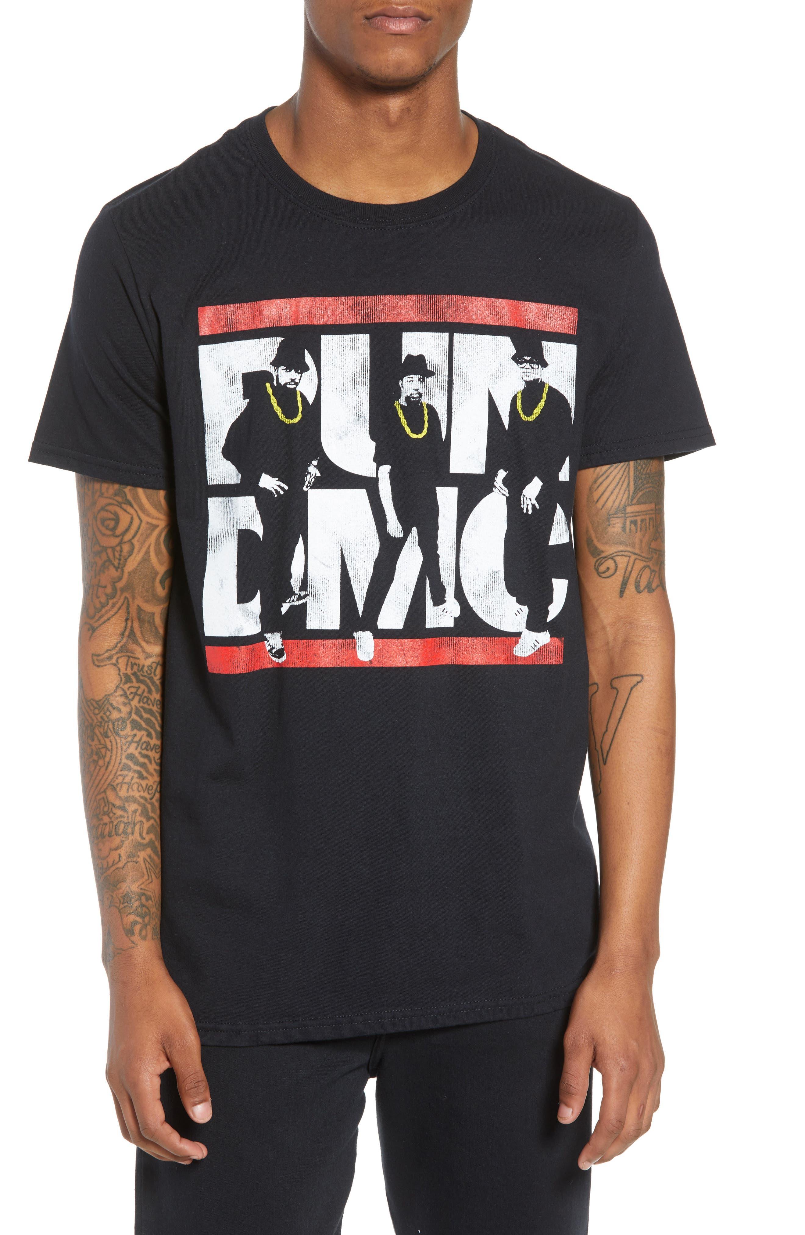 Run-DMC T-Shirt,                             Main thumbnail 1, color,                             Black Tee Run Dmc